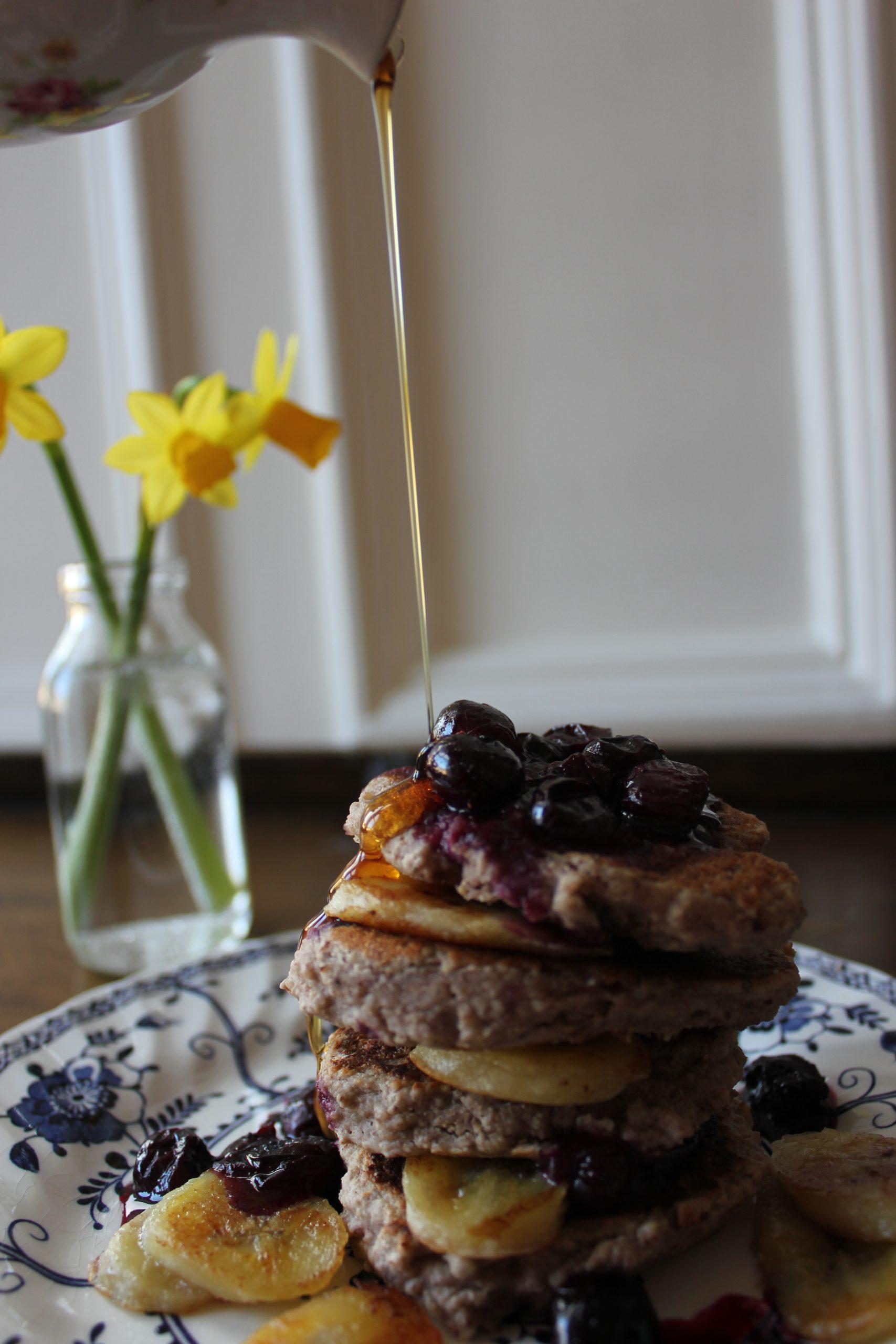 Banana, blueberry & pecan pancakes, A Modern Way to Eat