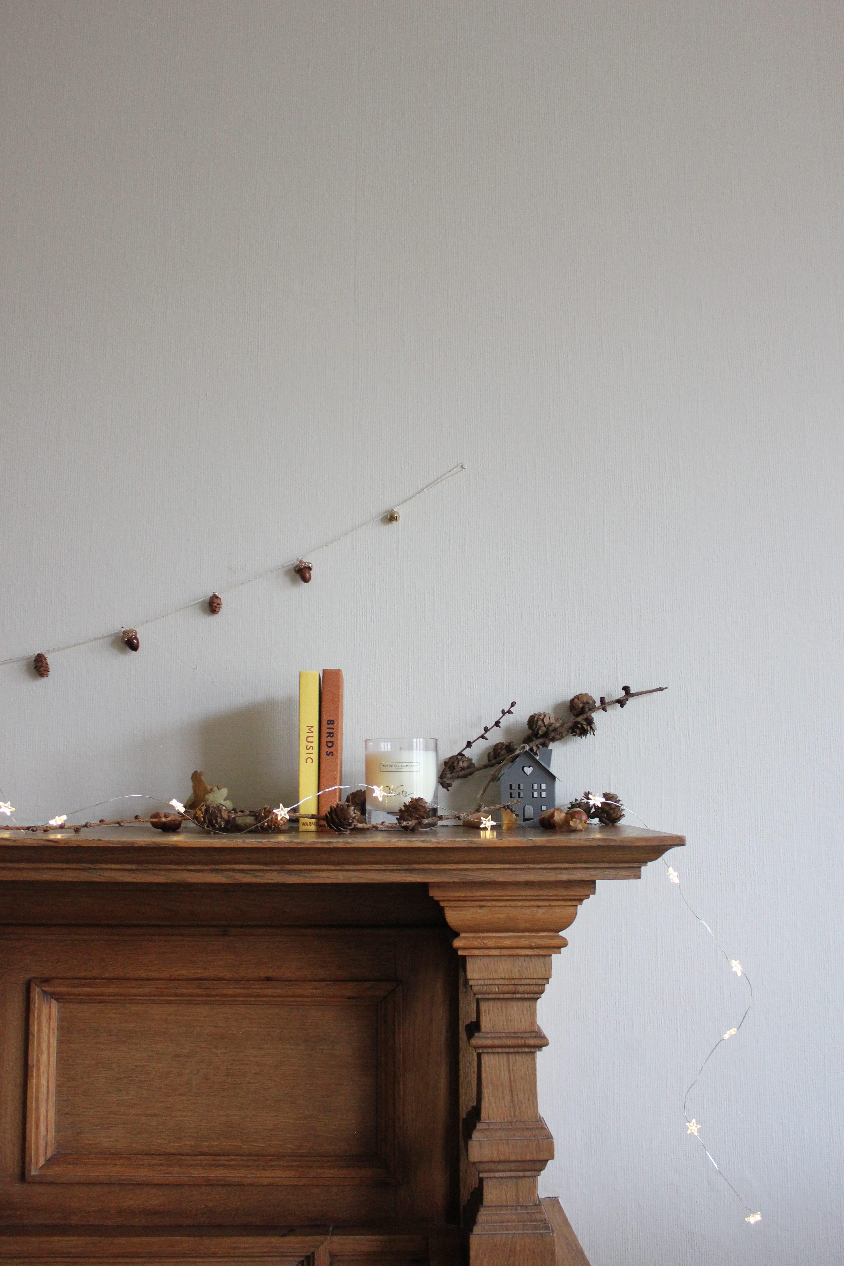 A Festive Pinecone Garland DIY