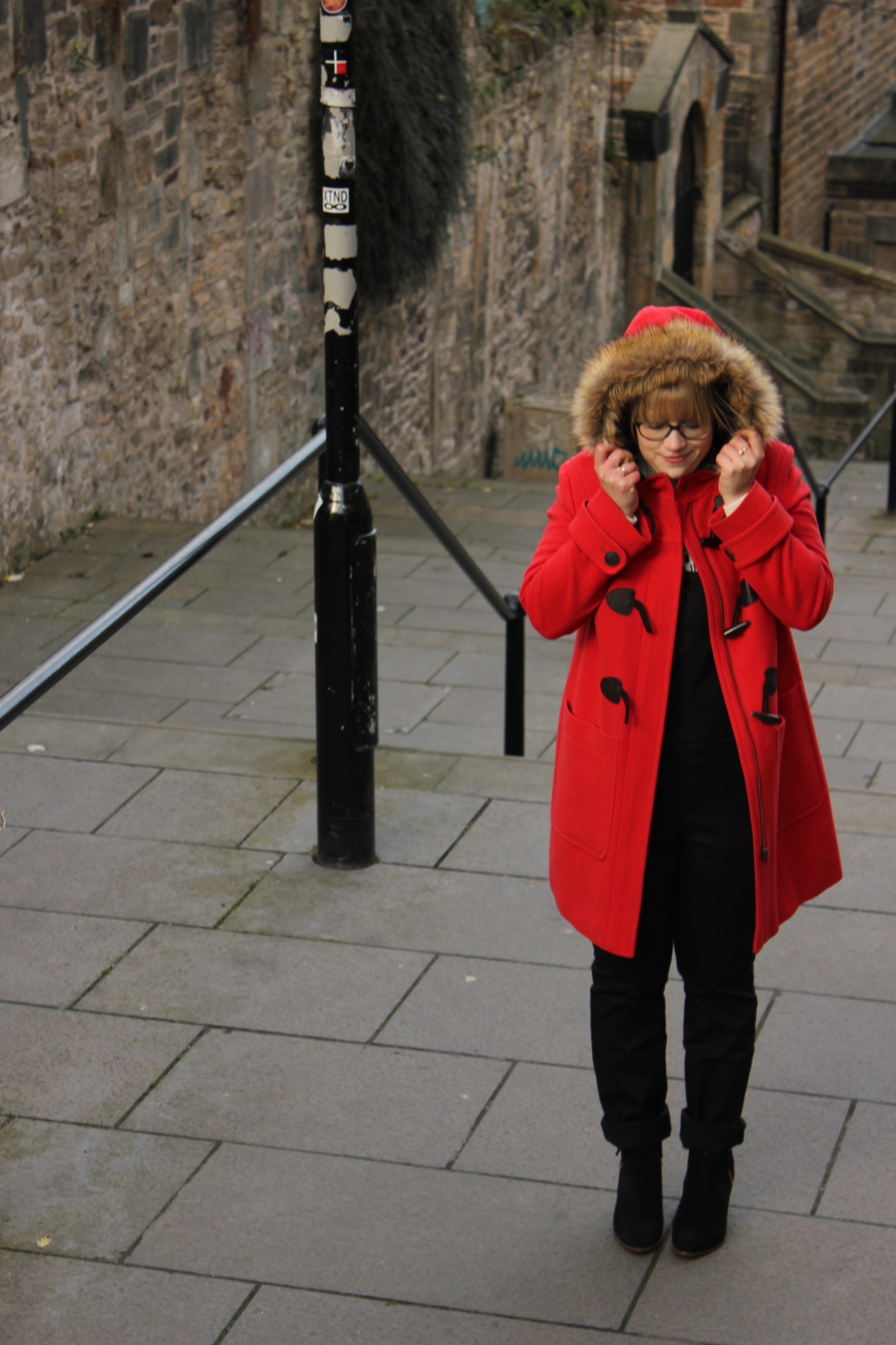 Boden Red Duffle Coat