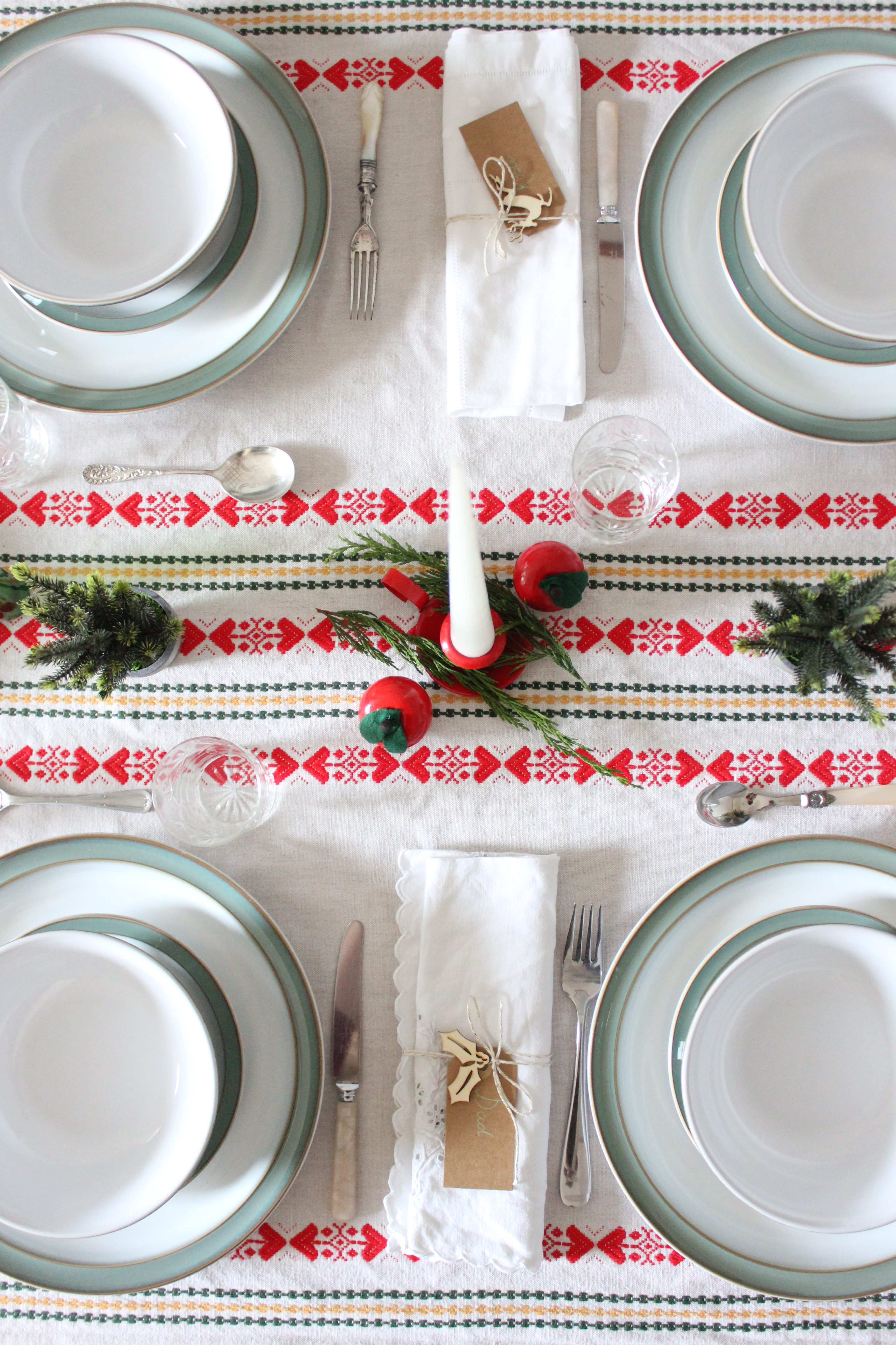 Denby Christmas Table