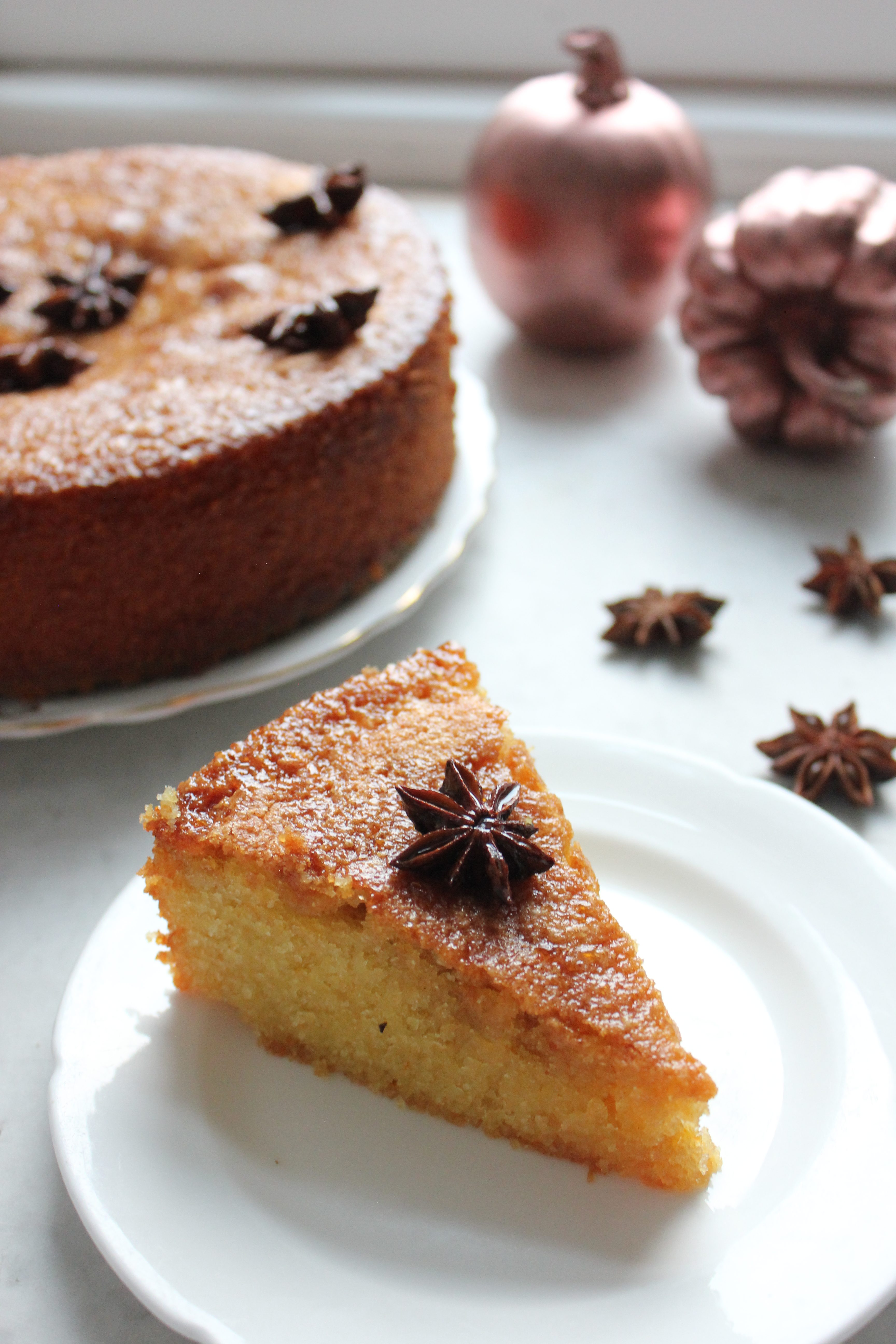 Star anise, almond and clementine cake