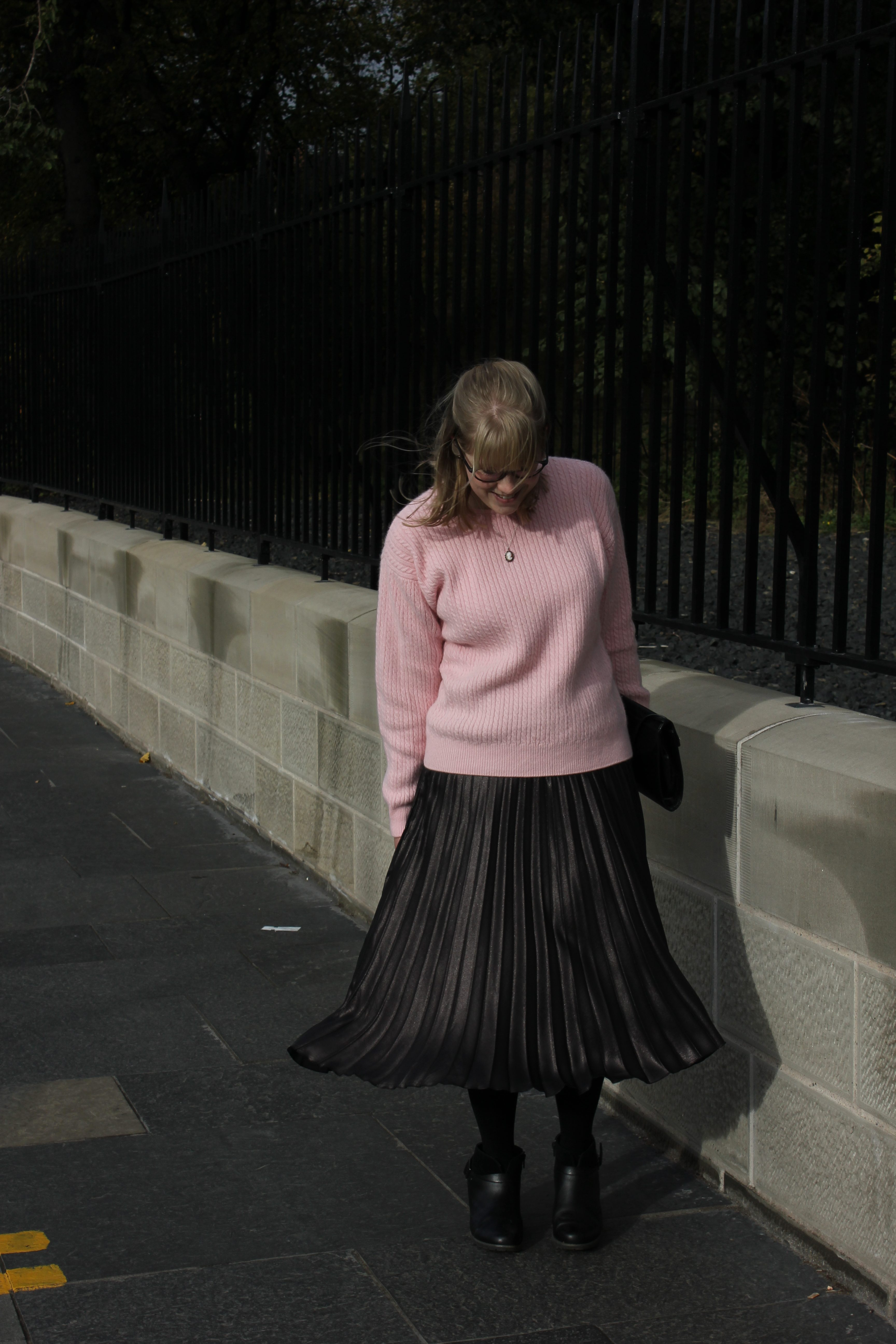 Marks & Spencer pleated midi skirt