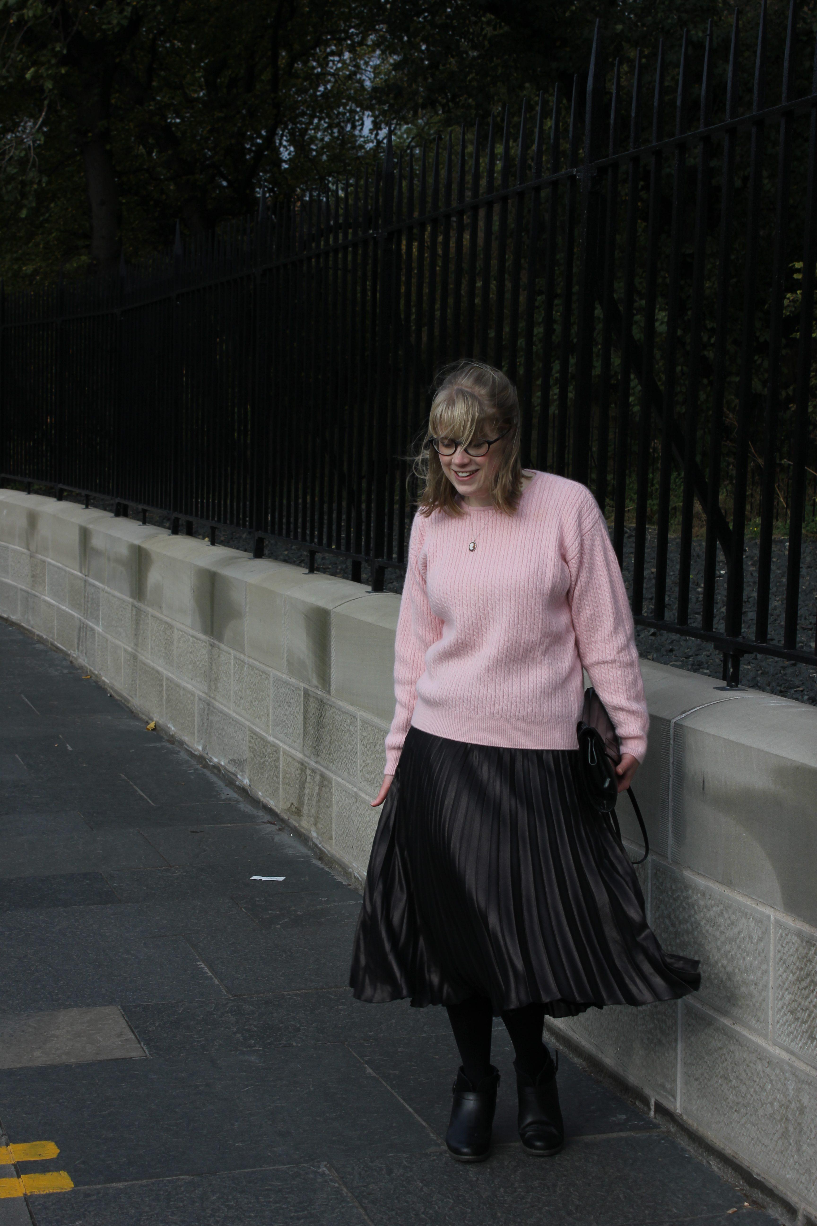 Marks & Spencer pleated midi skirt