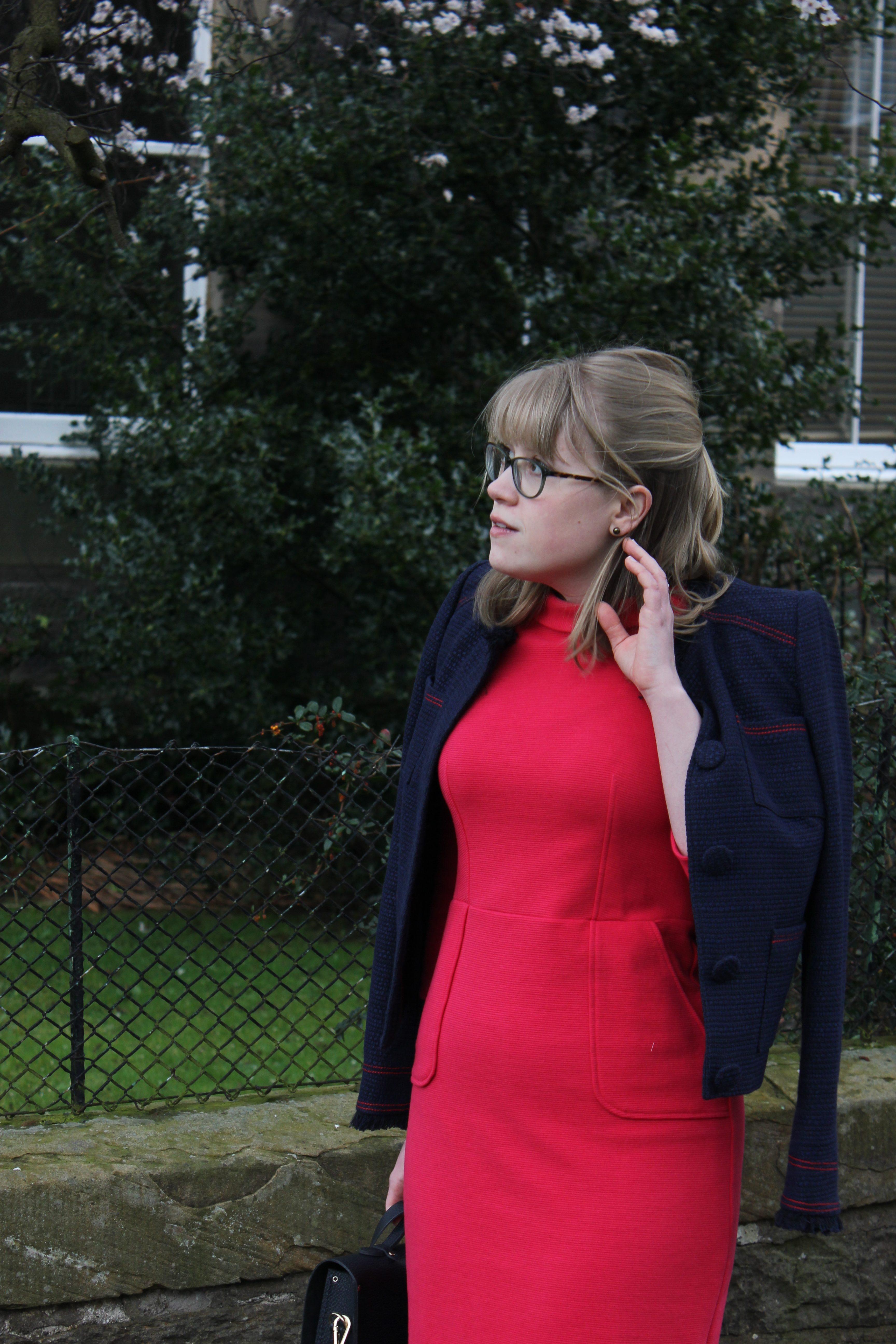 Boden Elise Pocket Jacket, Iris Ottoman Dress