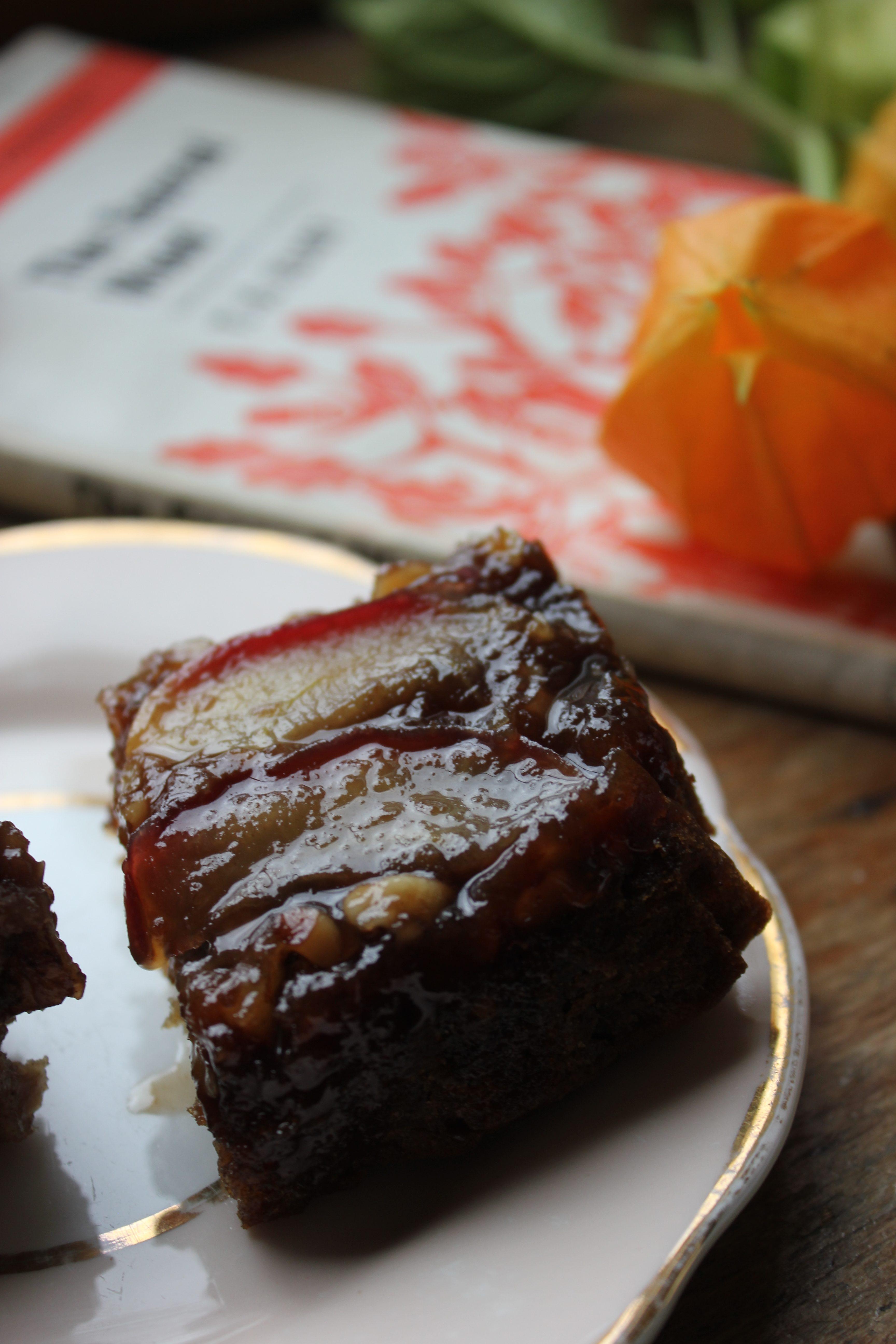 Vegan toffee apple upside down cake
