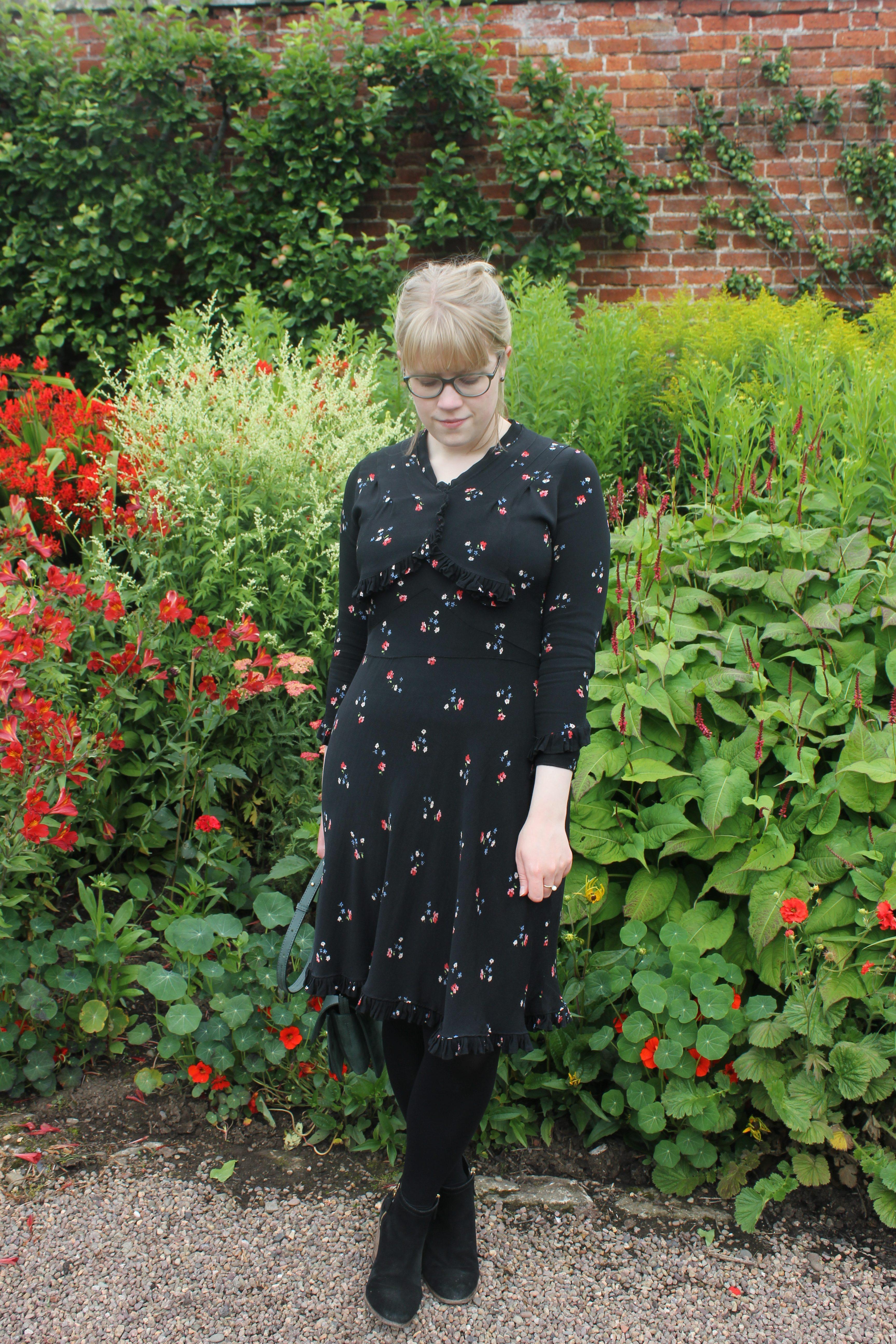 '40s floral dress