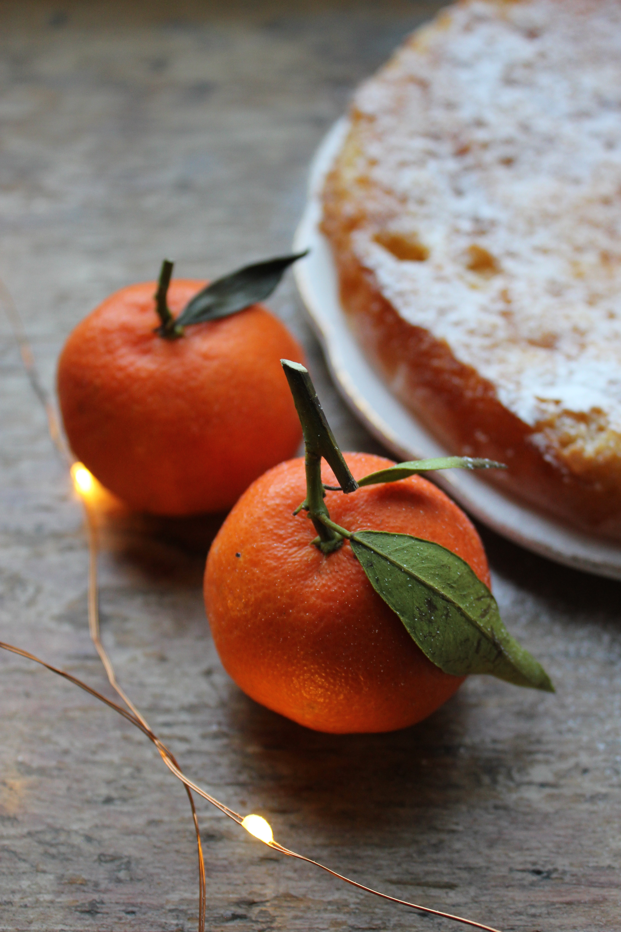 Clementine, almond and olive oil cake