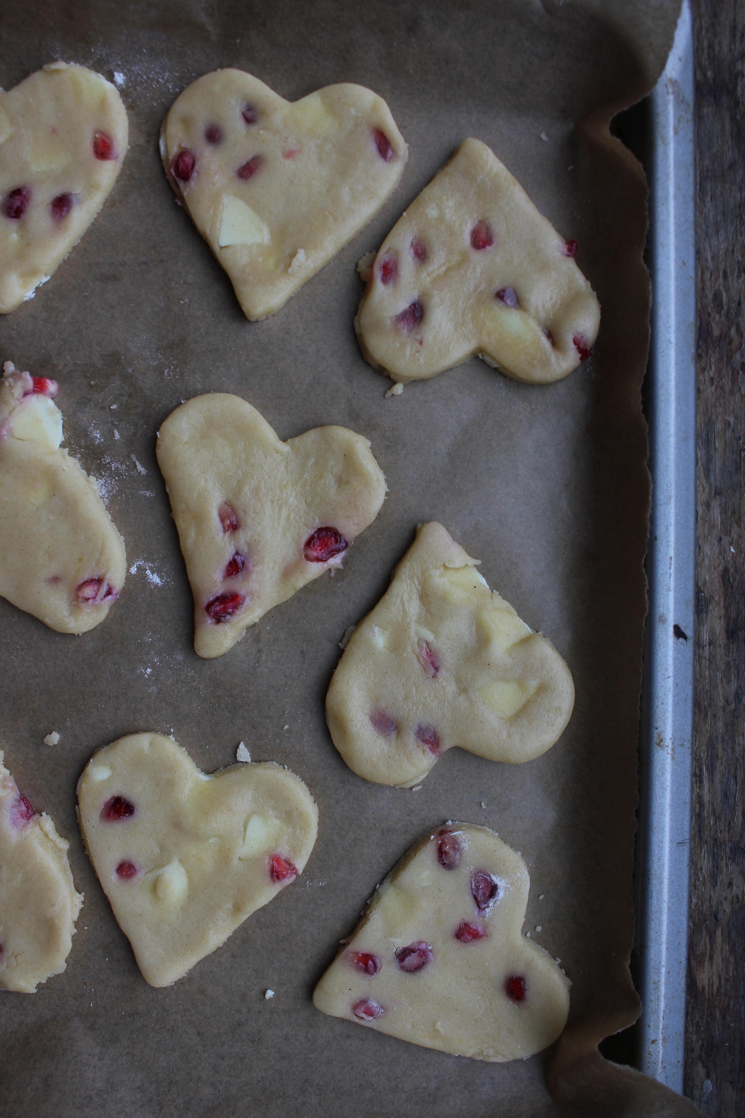 Tahini and pomegranate cookies