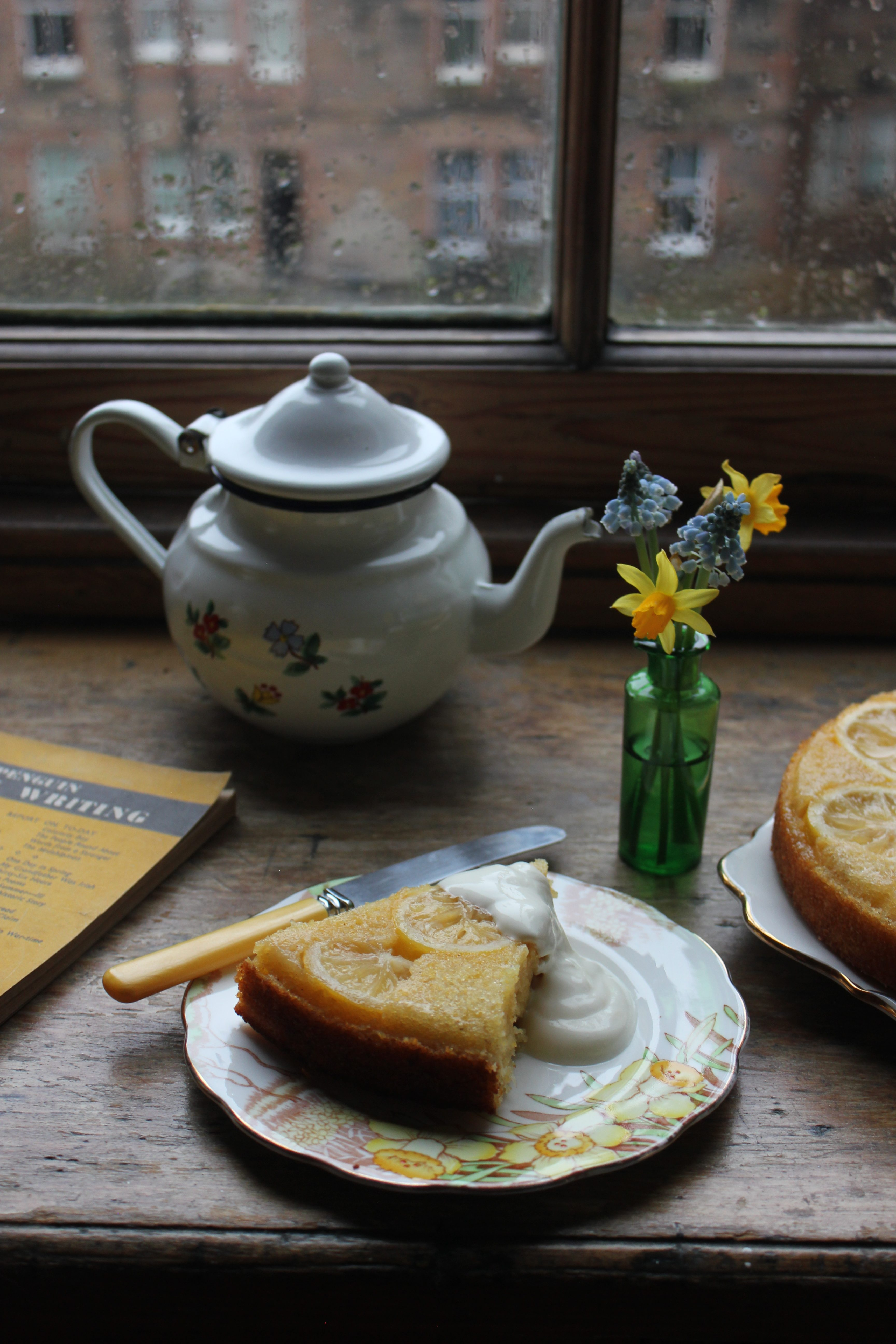 Lemon and cardamom upside down cake