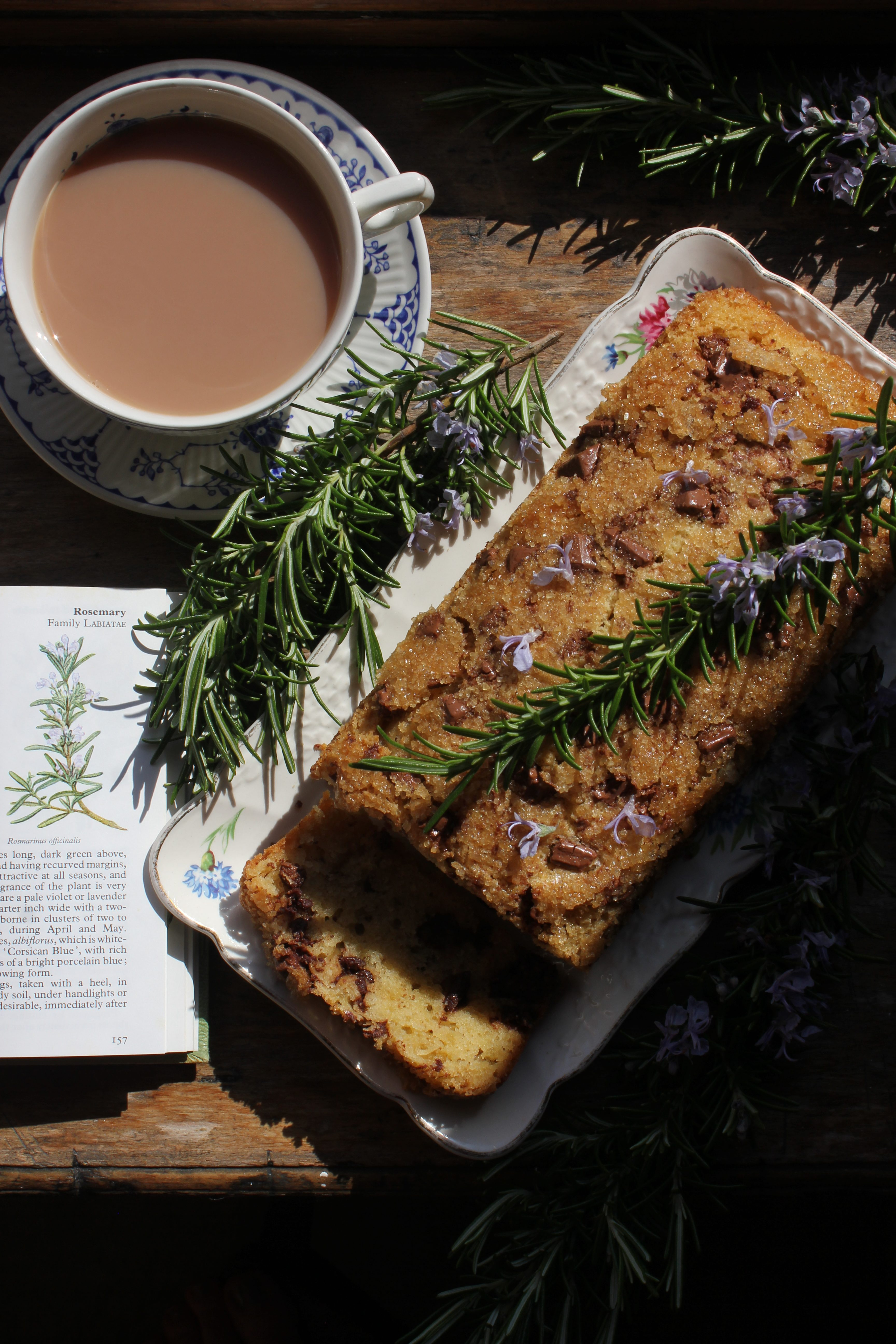 Chocolate, olive oil and rosemary loaf