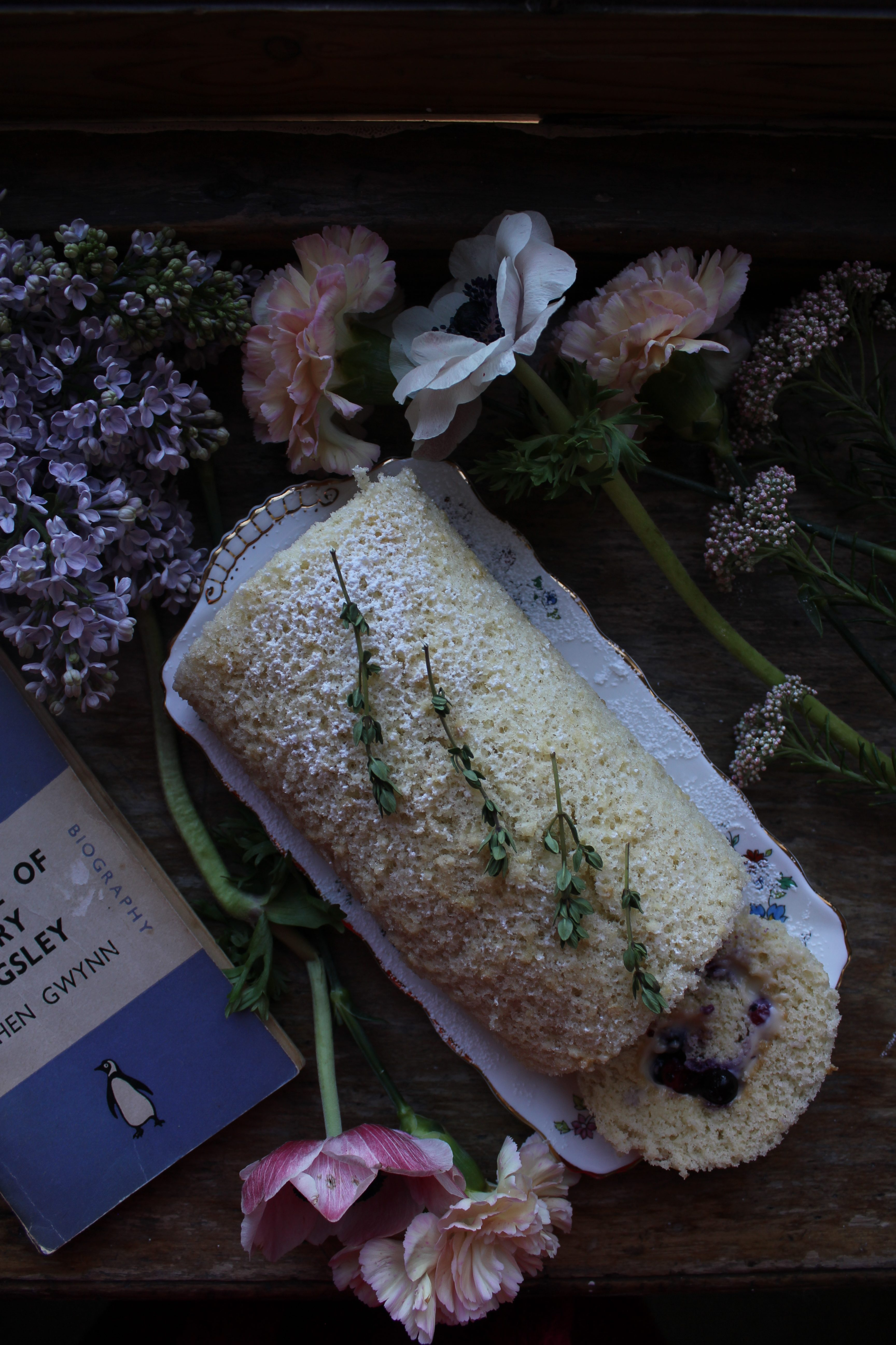 Summer Fruit Roulade with Lemon Thyme