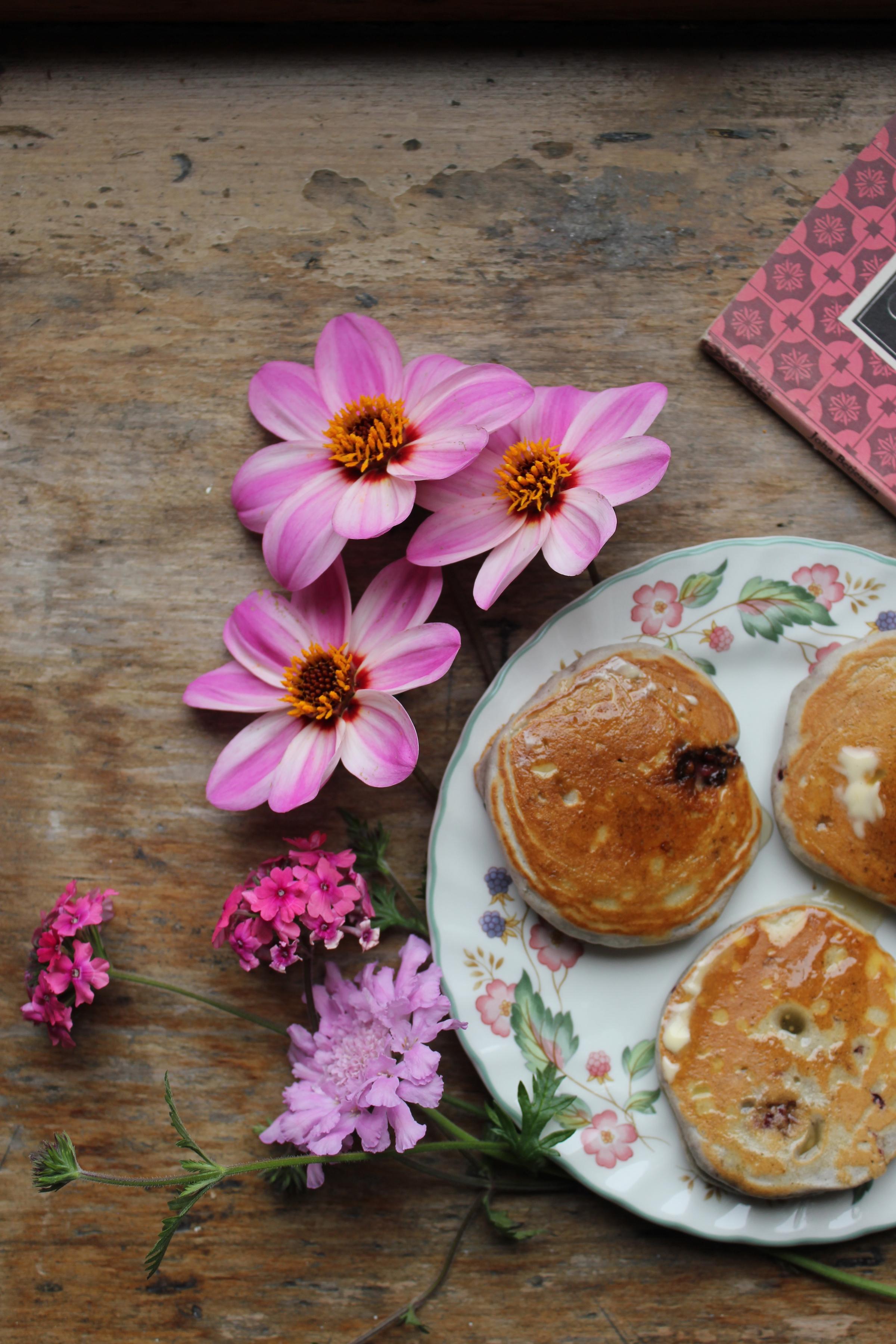 Blackberry, Saffron & Honey Drop Scones