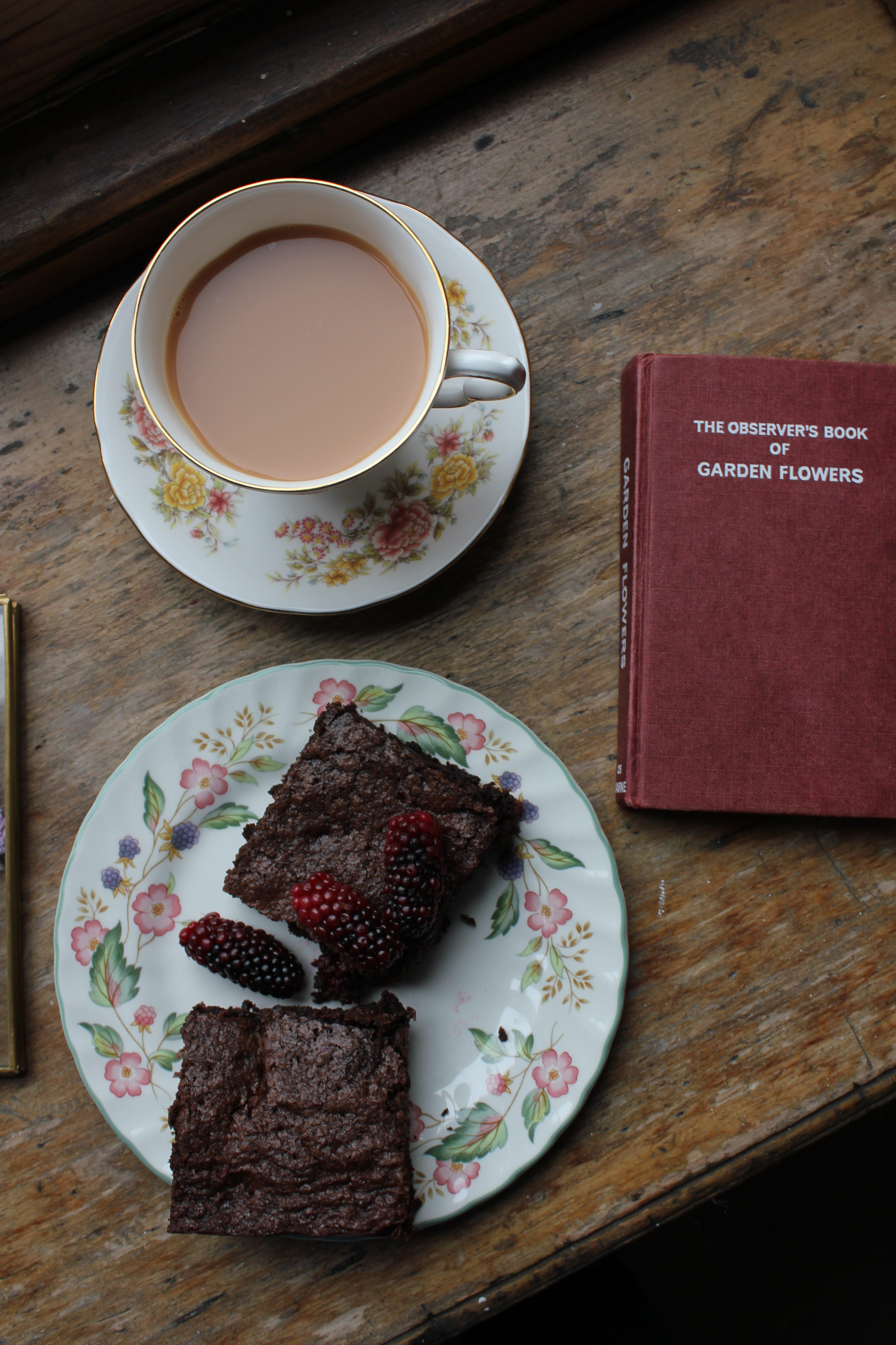 Tayberry and Ginger Brownies