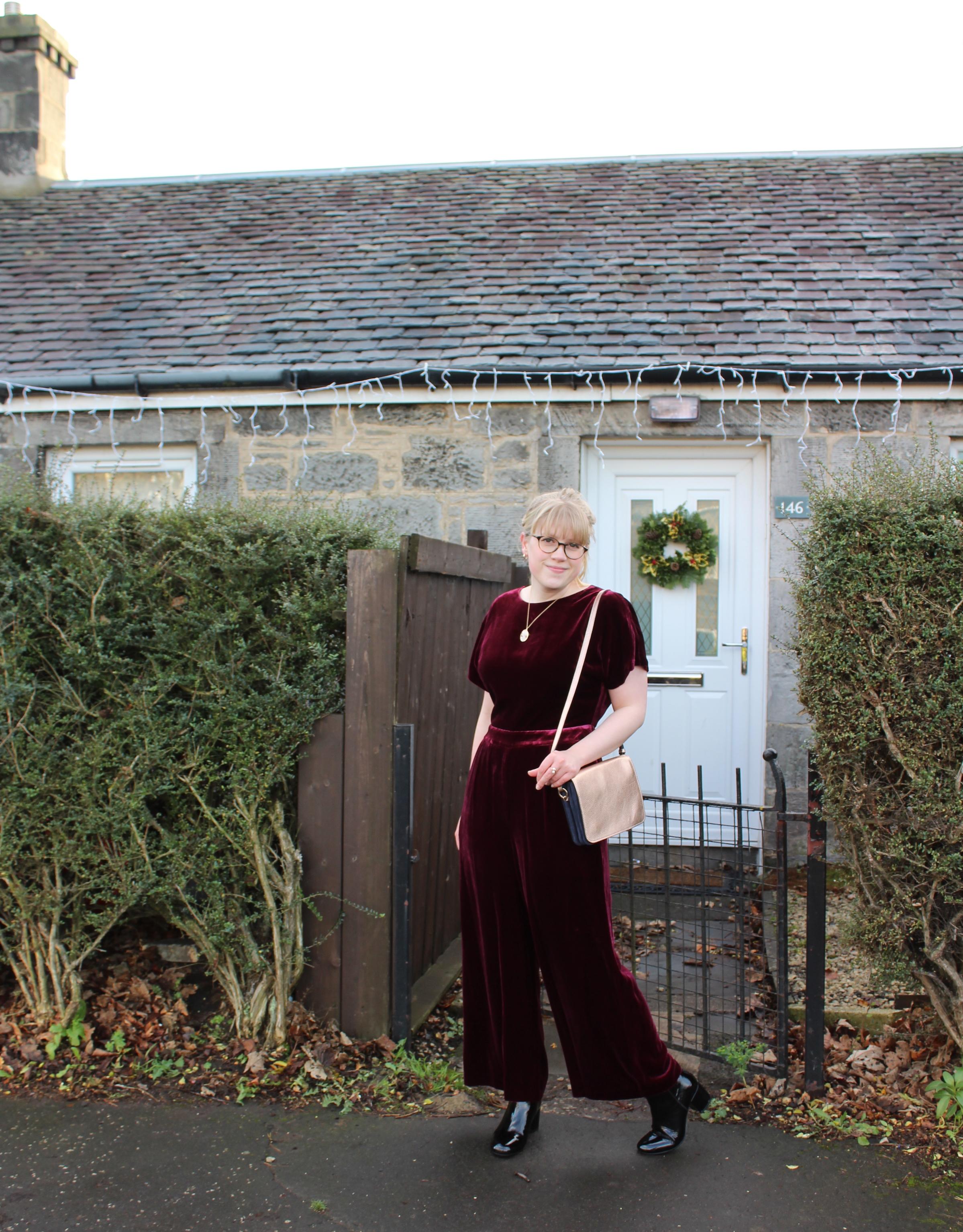 Boden Aston Velvet Jumpsuit
