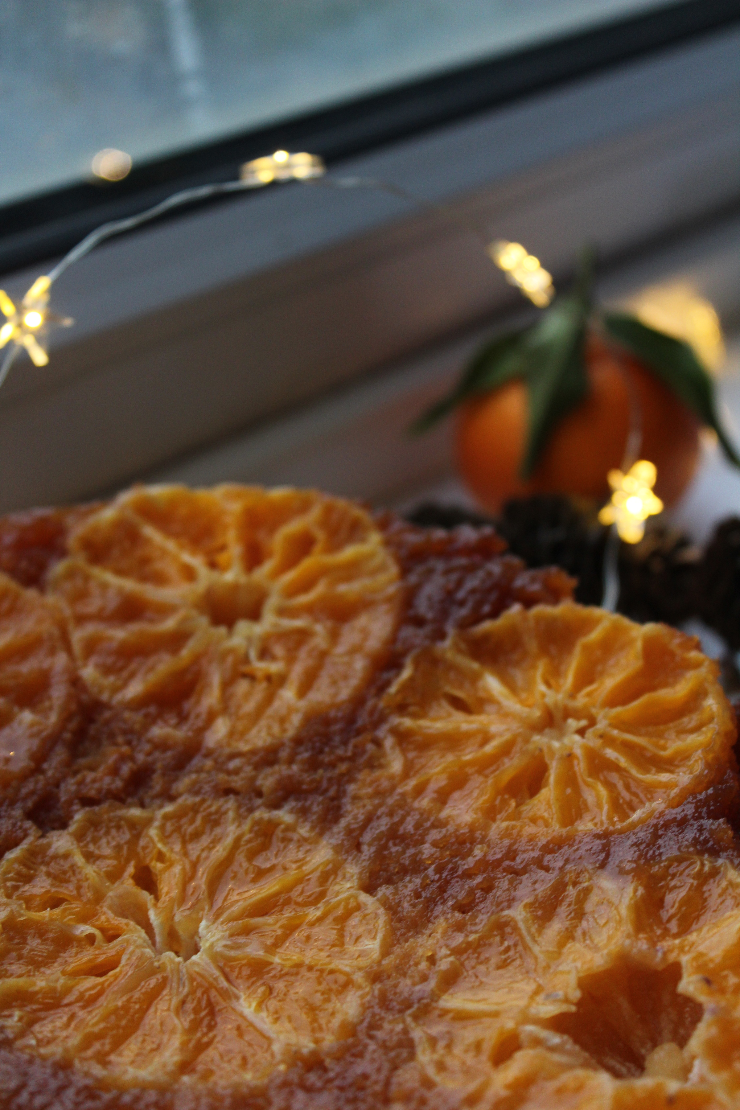Clementine and Cardamom Upside-Down Cake