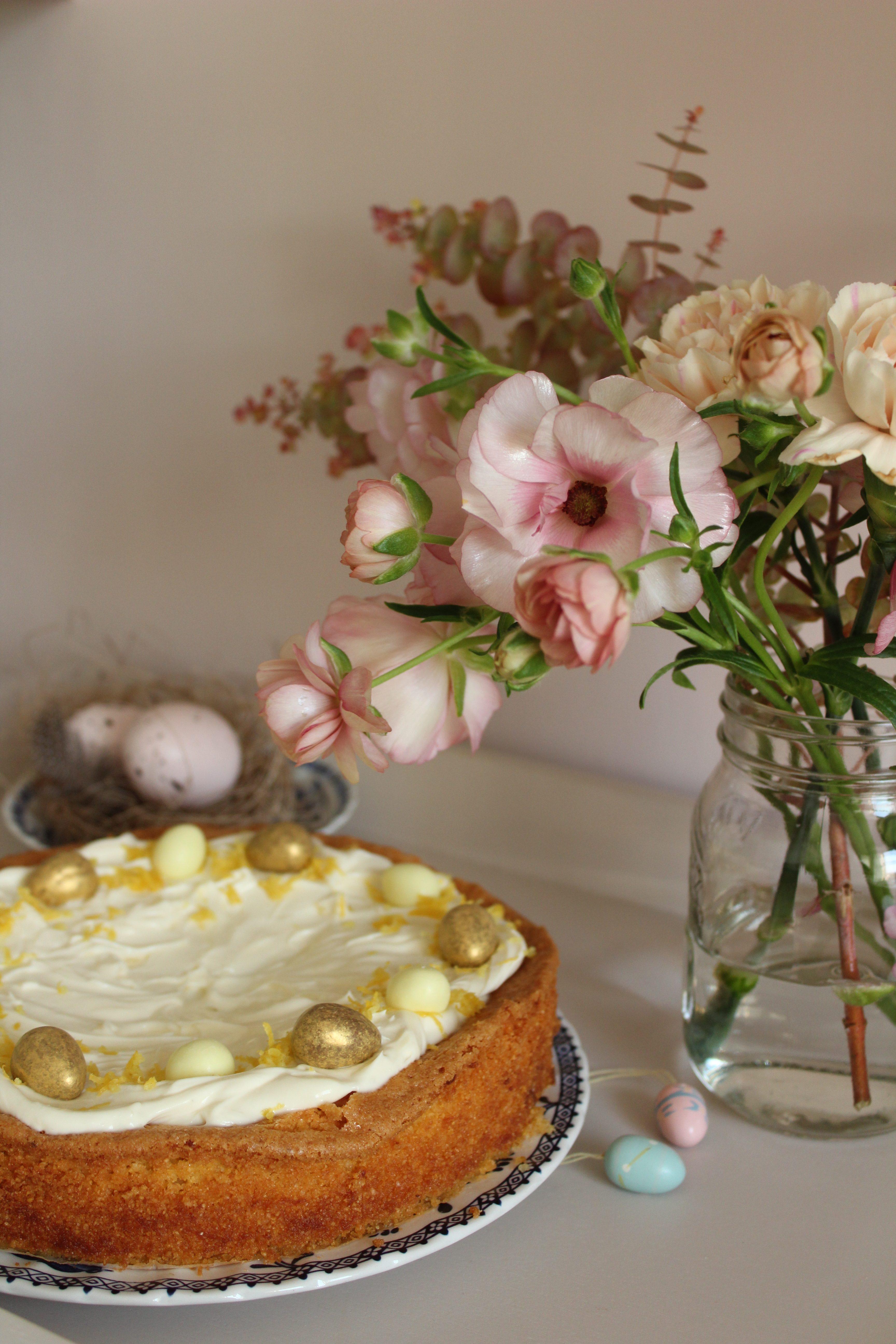 Lemon Polenta Cake with Mascarpone