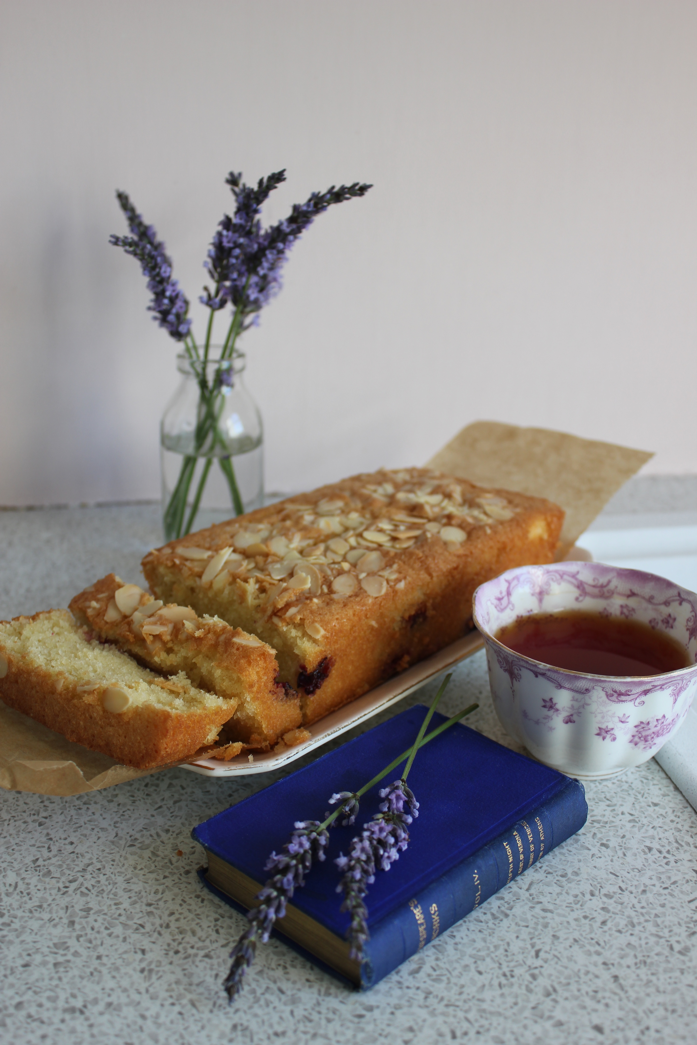 Blackcurrant and almond loaf