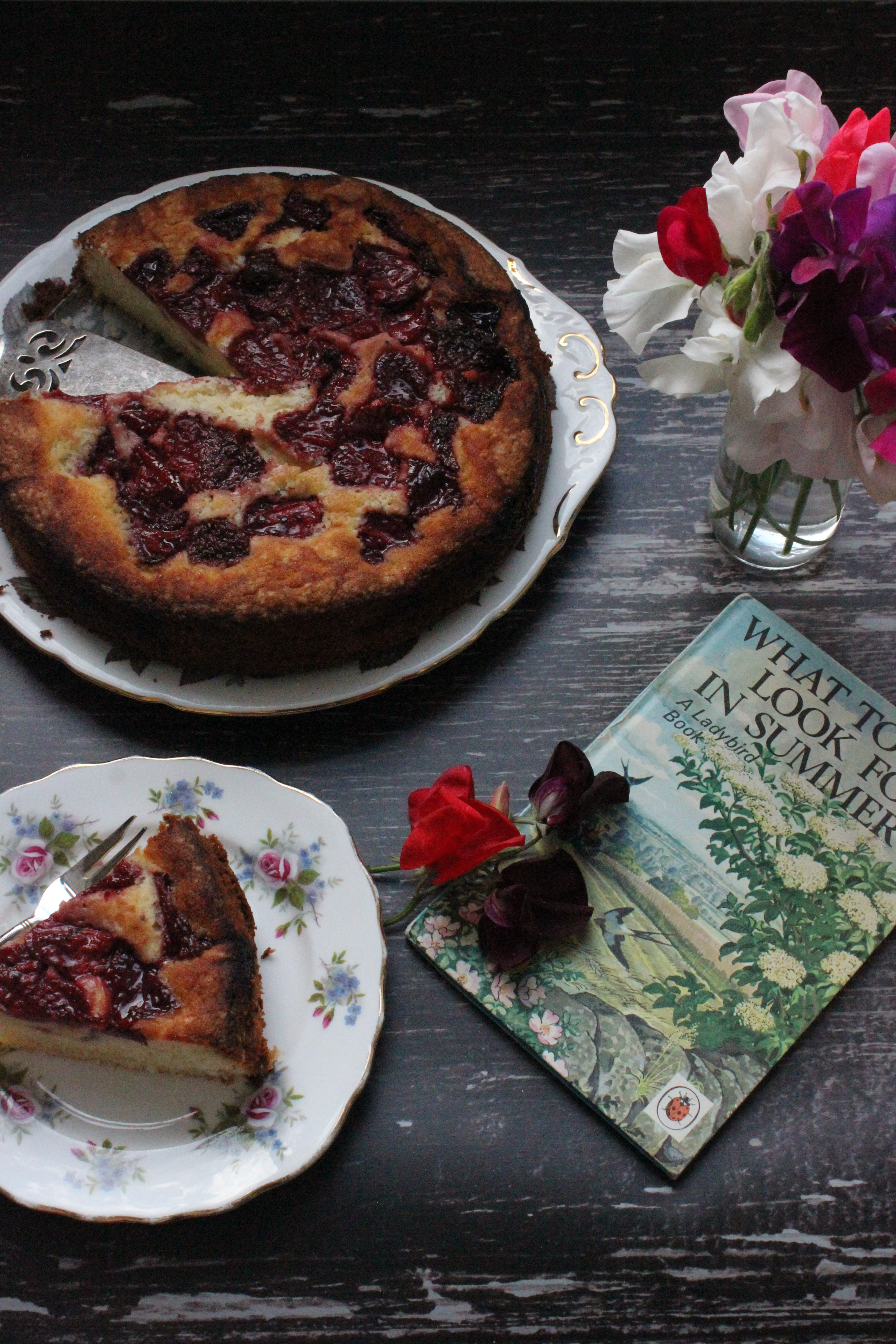 Roasted Strawberry and Black Pepper Cake