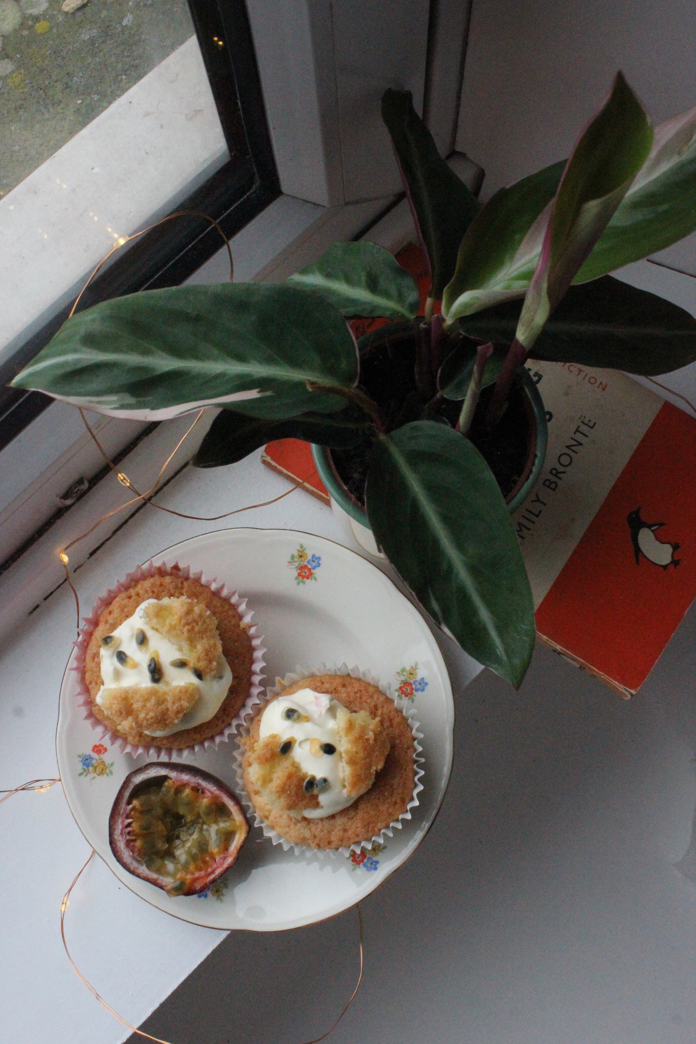 Passionfruit butterfly cakes