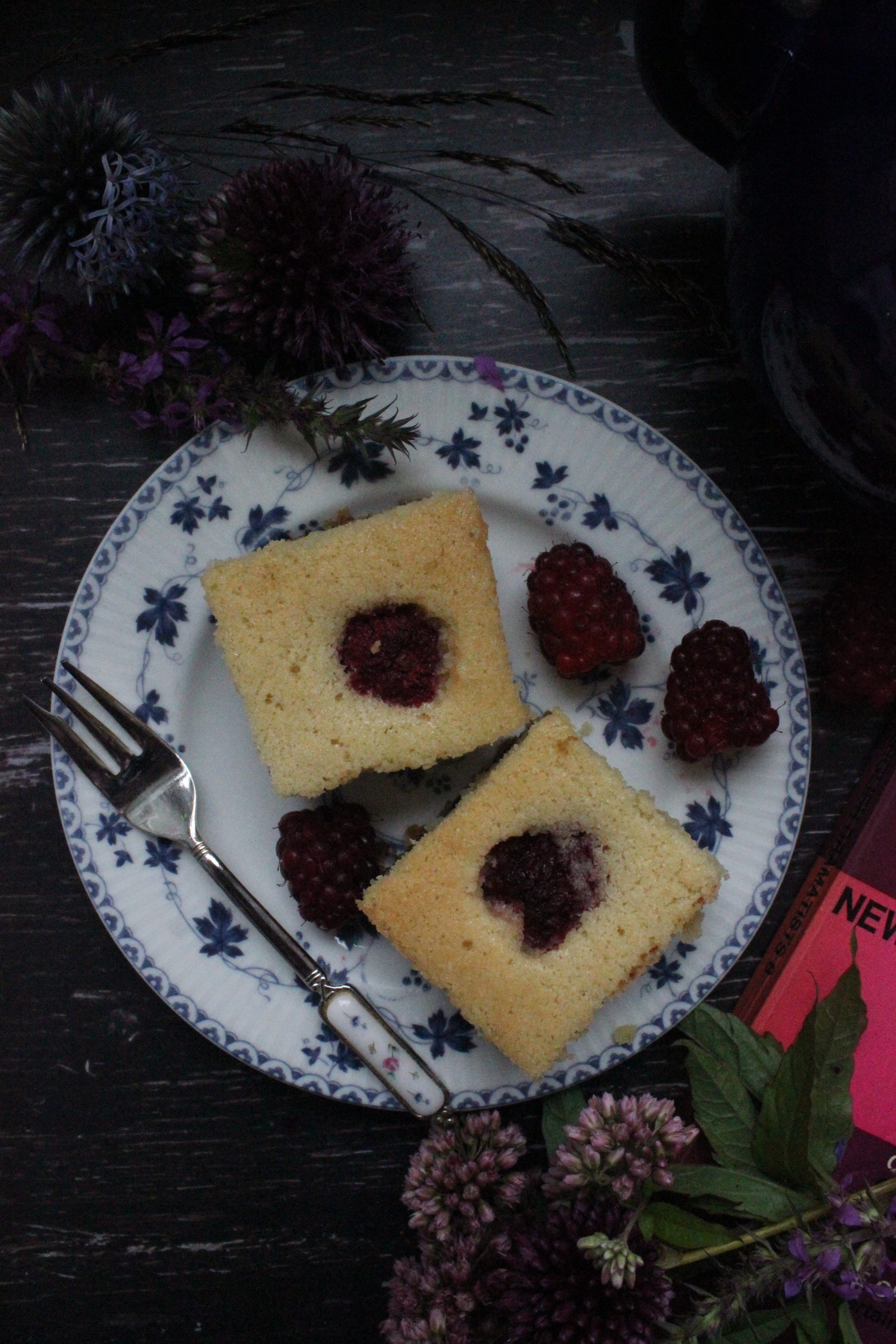 Tayberry Bakewell Squares