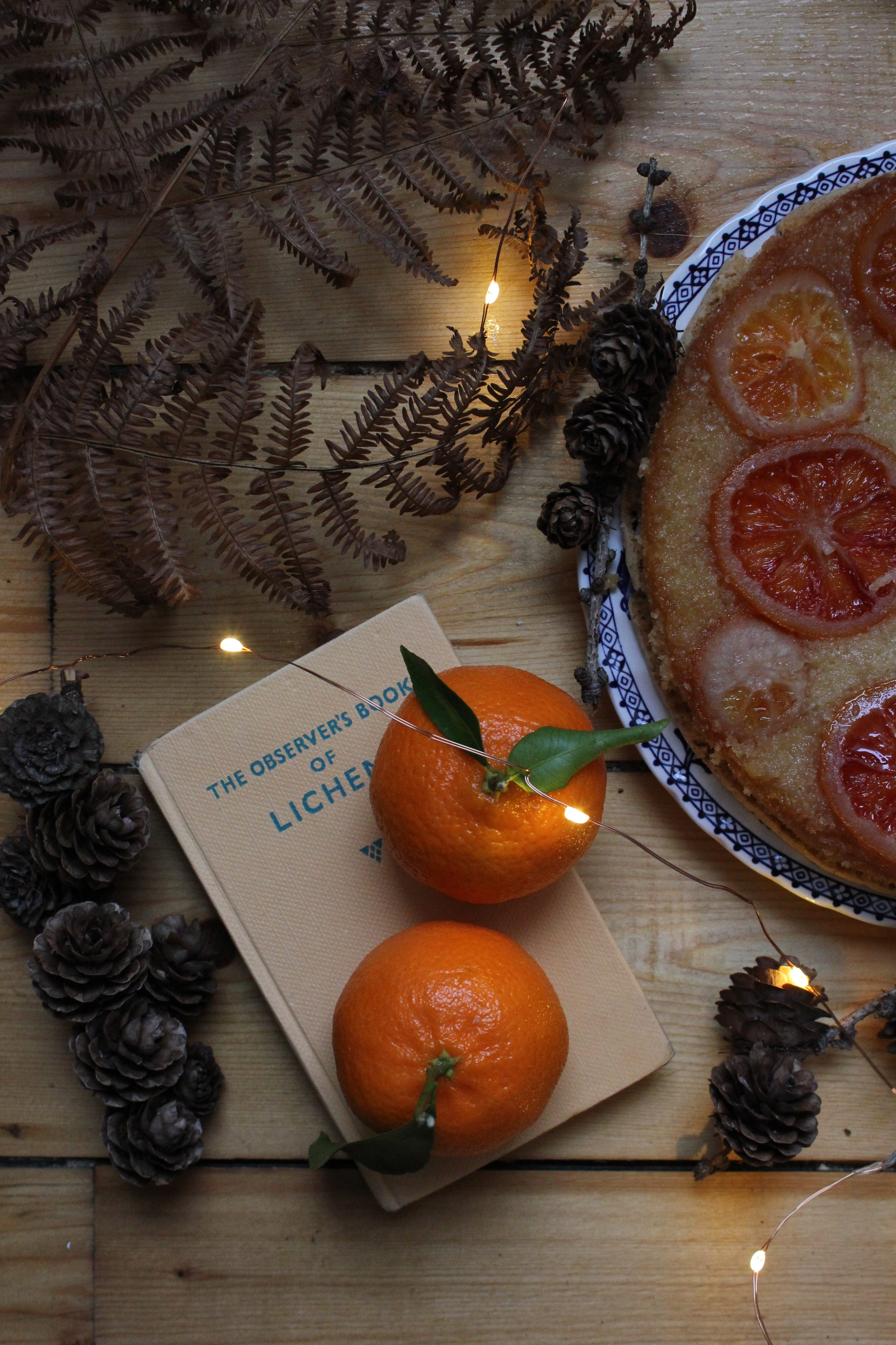 Sticky Blood Orange and Vanilla Upside-down Cake