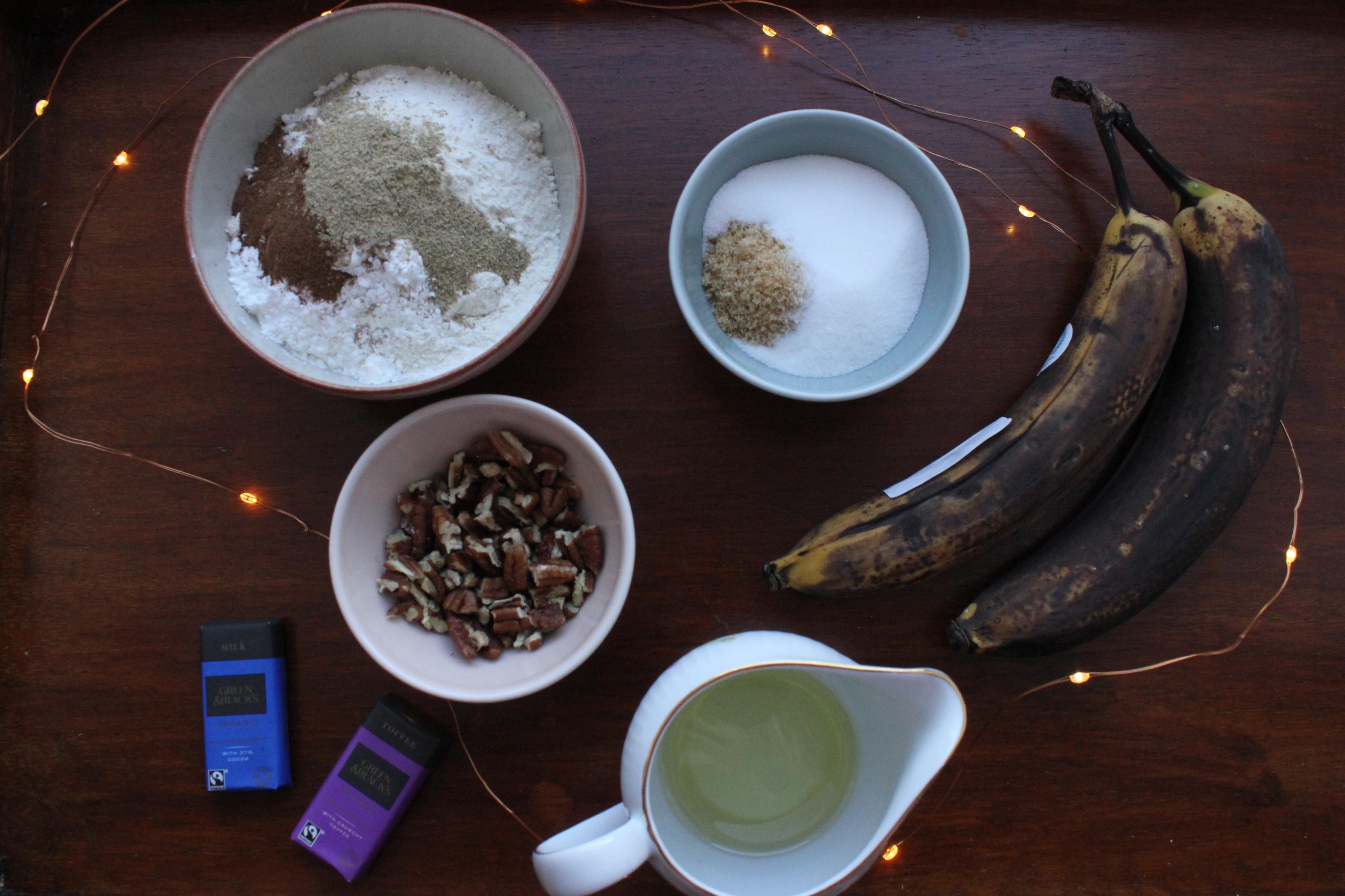 Vegan Chocolate and Pecan Banana Bread