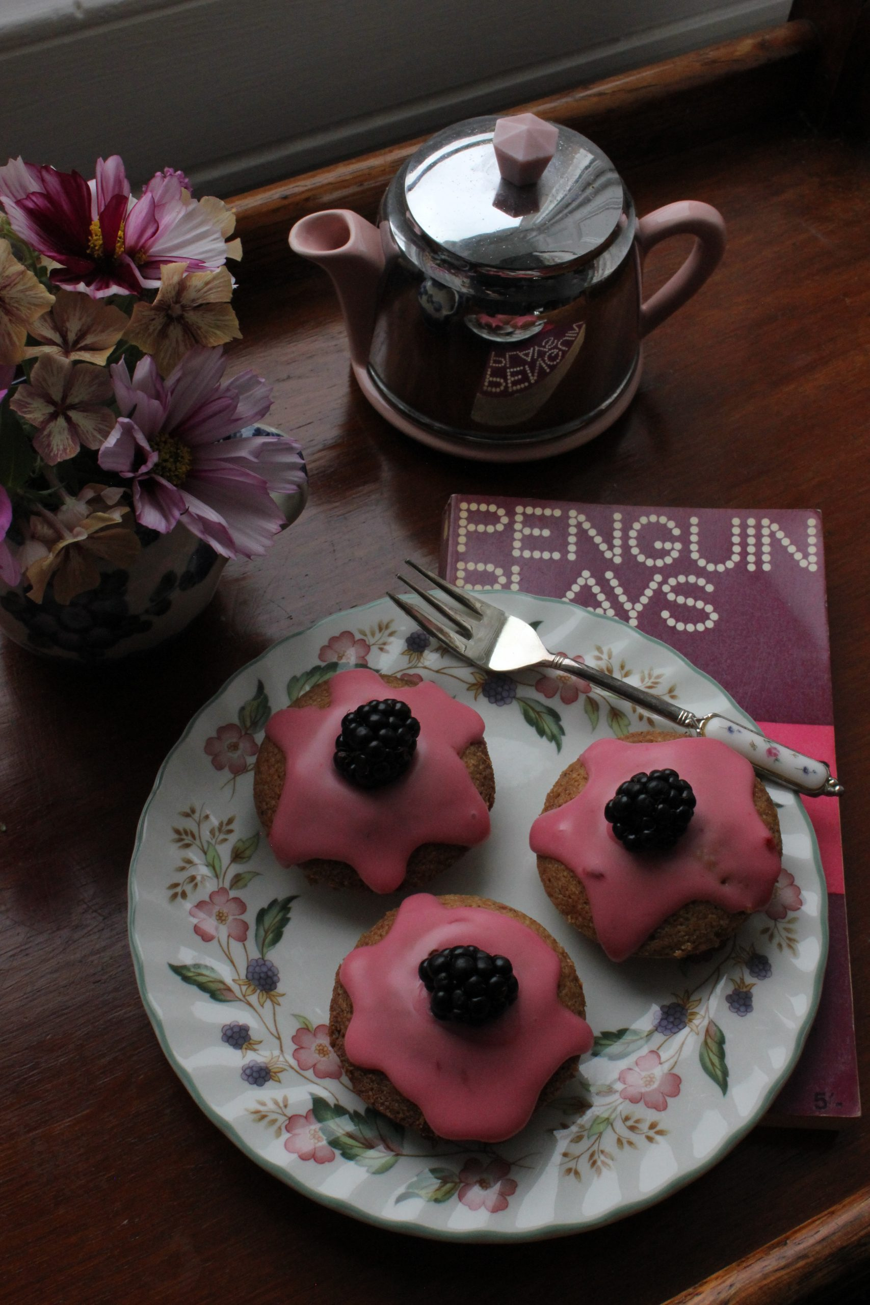 Blackberry and star anise friands