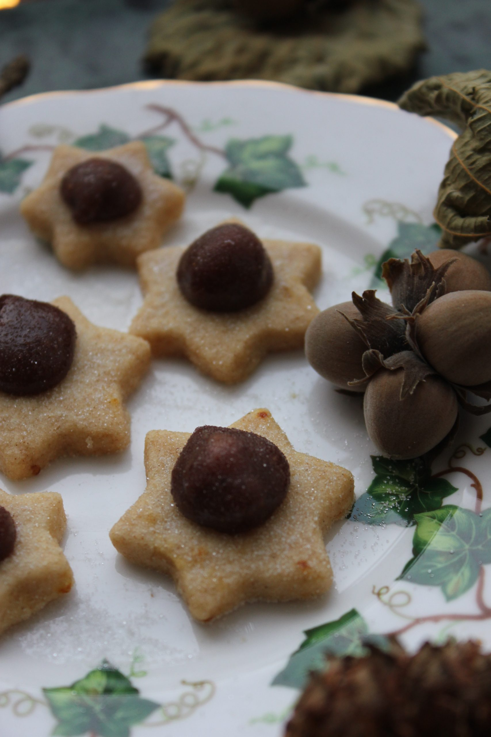 Shortbread stars with Hazelnut Ganache