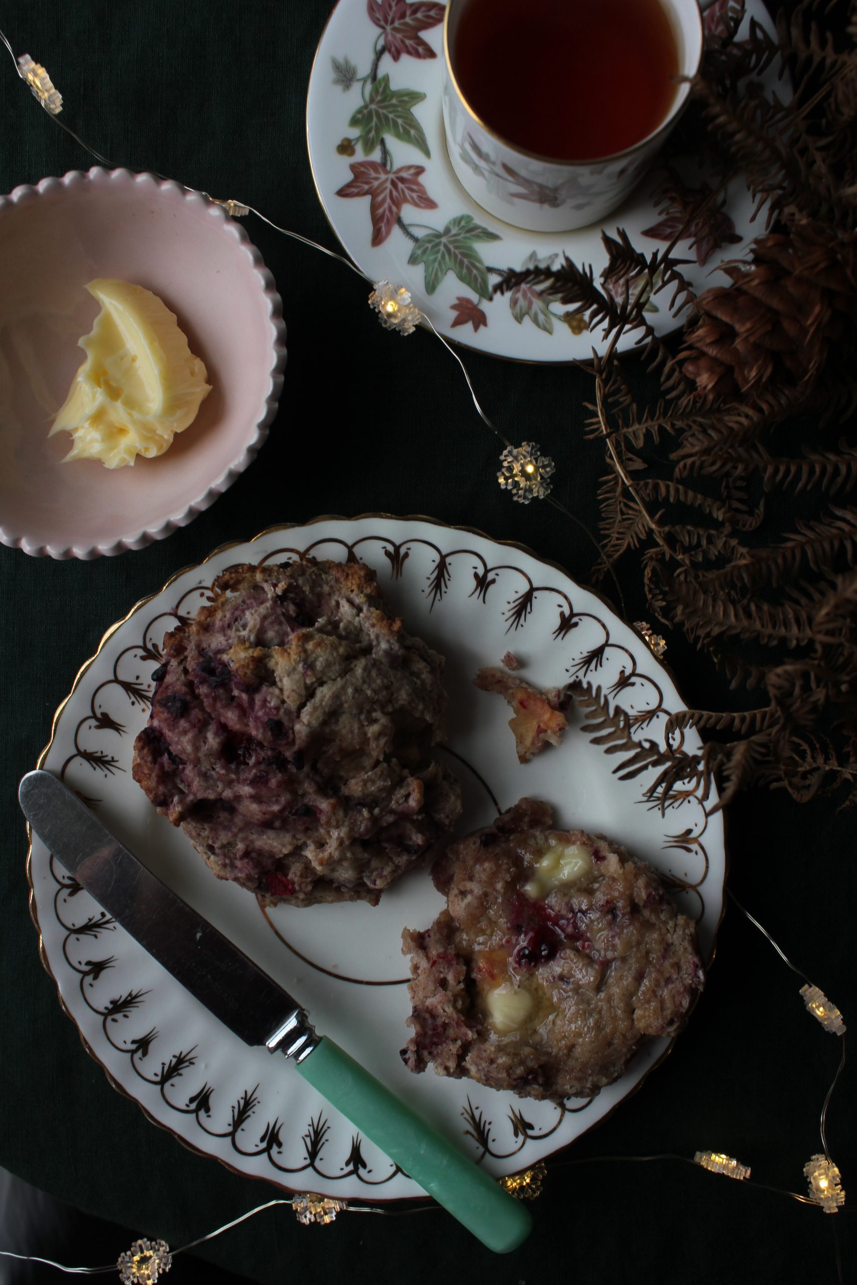 Blackberry and Apple Scones with Honey Butter