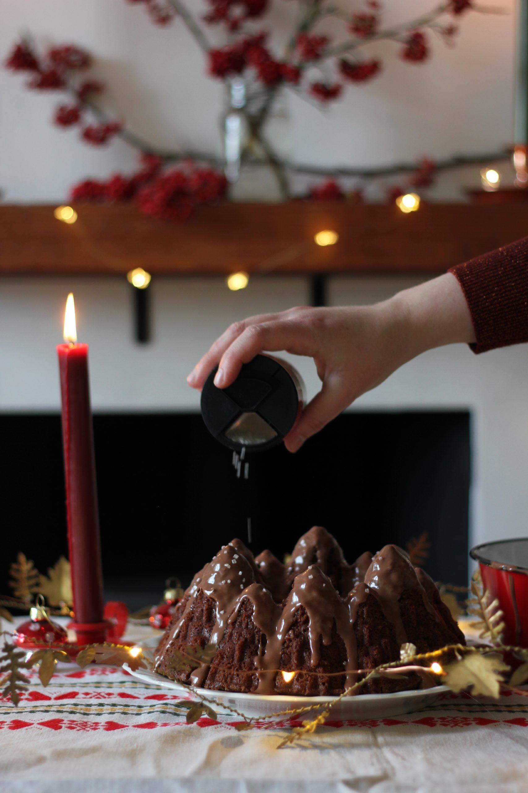 Chocolate peppermint bundt