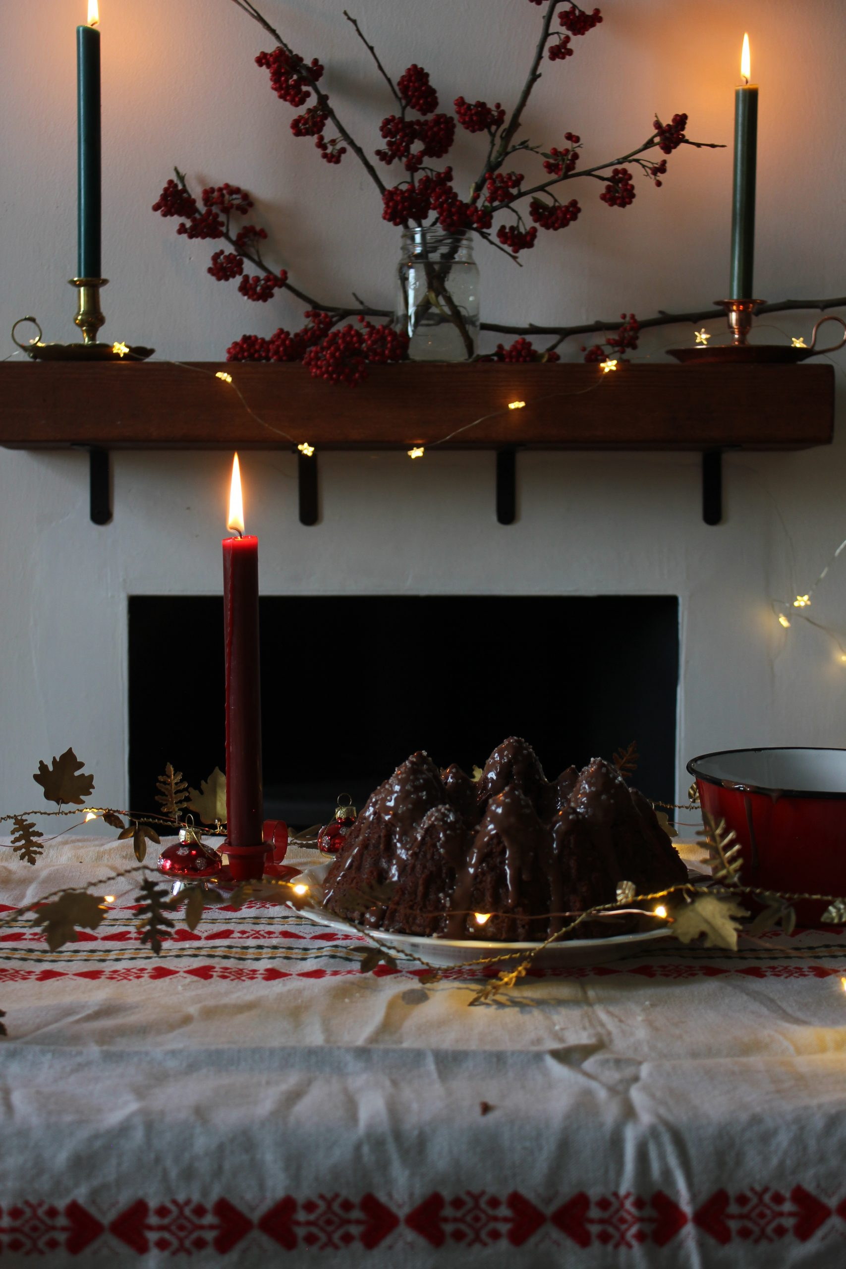 Chocolate peppermint bundt