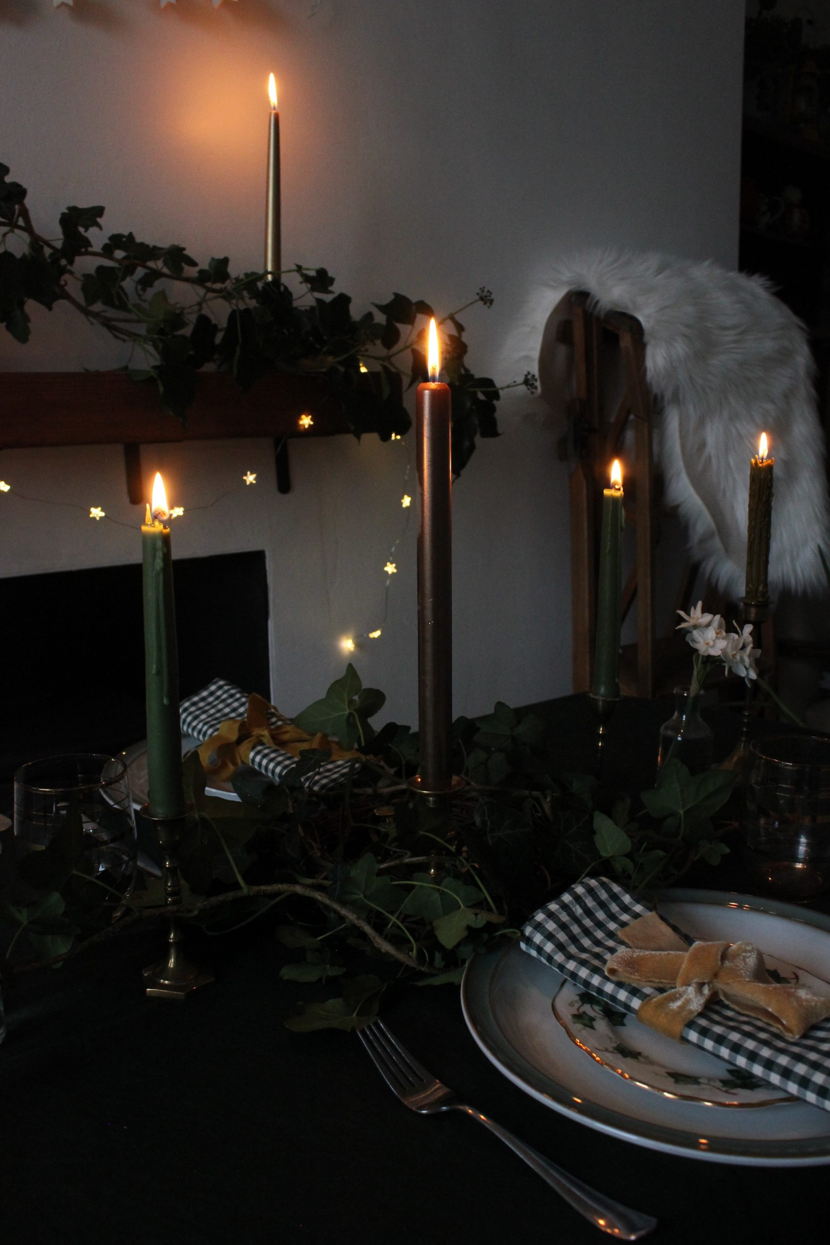 Winter Solstice Table Setting