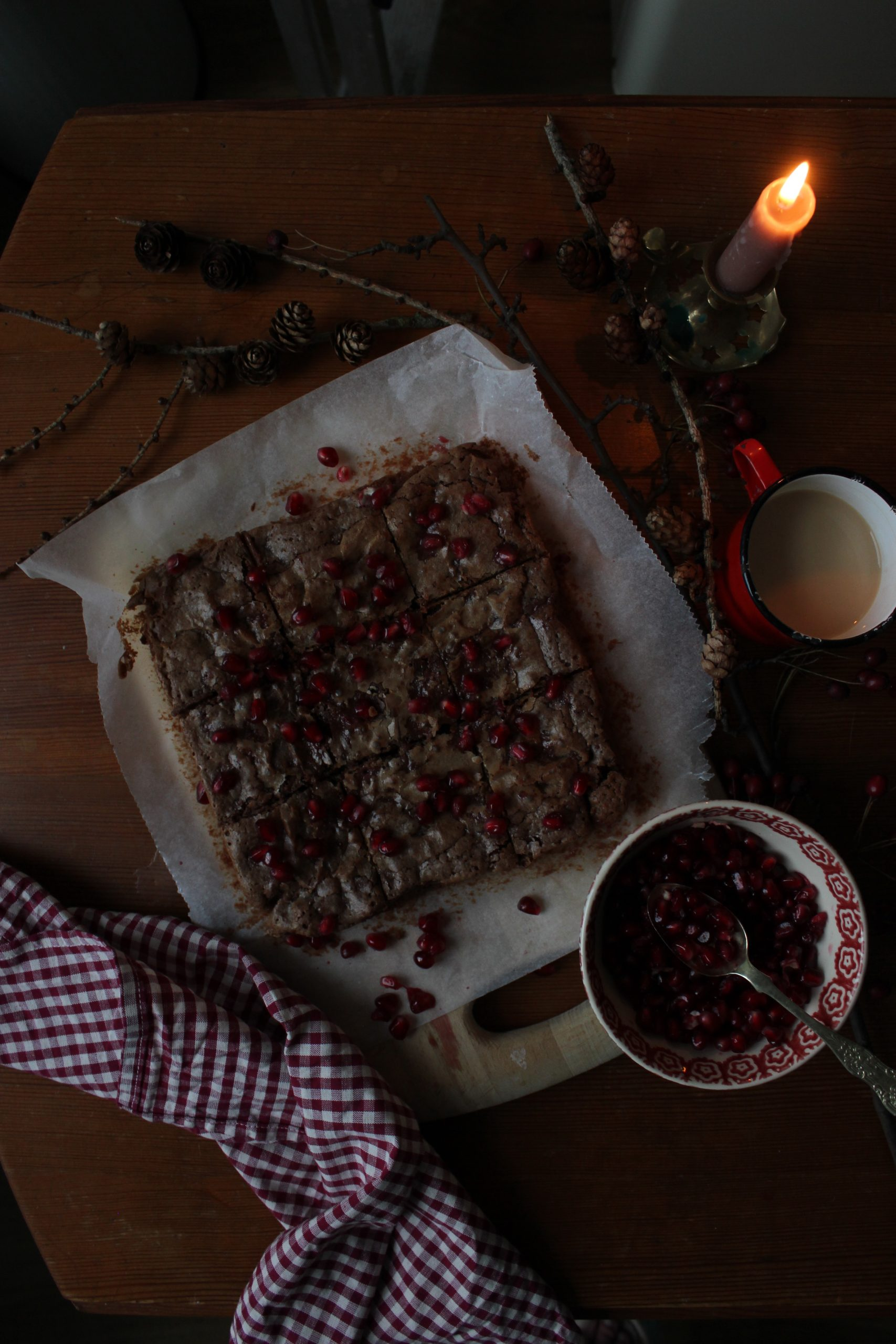 Pomegranate brownie