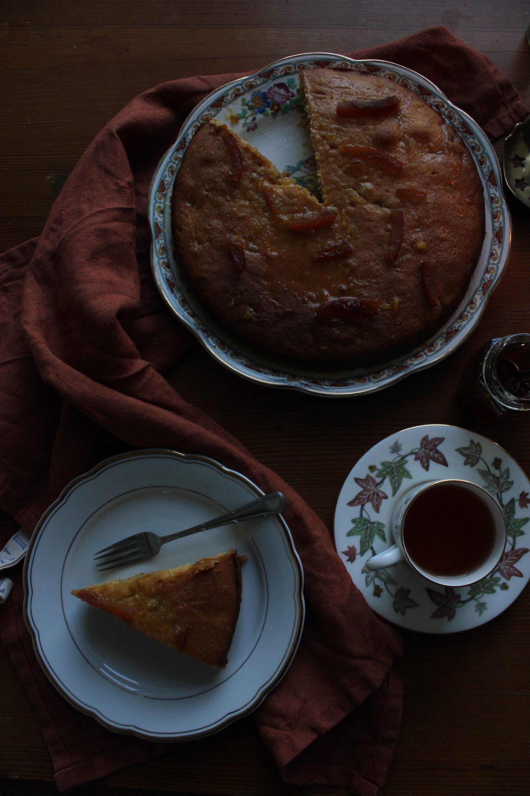 Marmalade and ginger cake