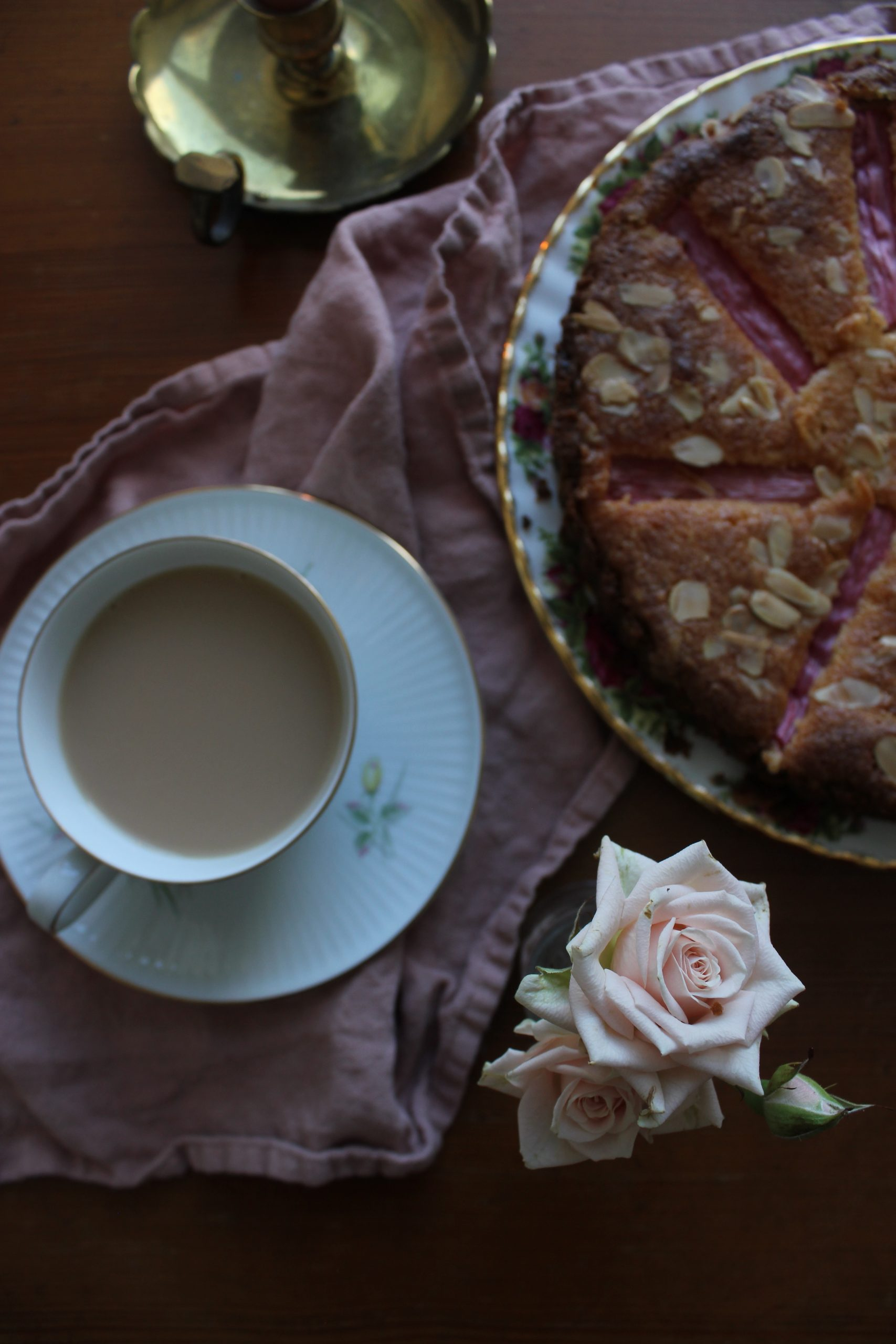 Rose and Rhubarb Frangipane Tart