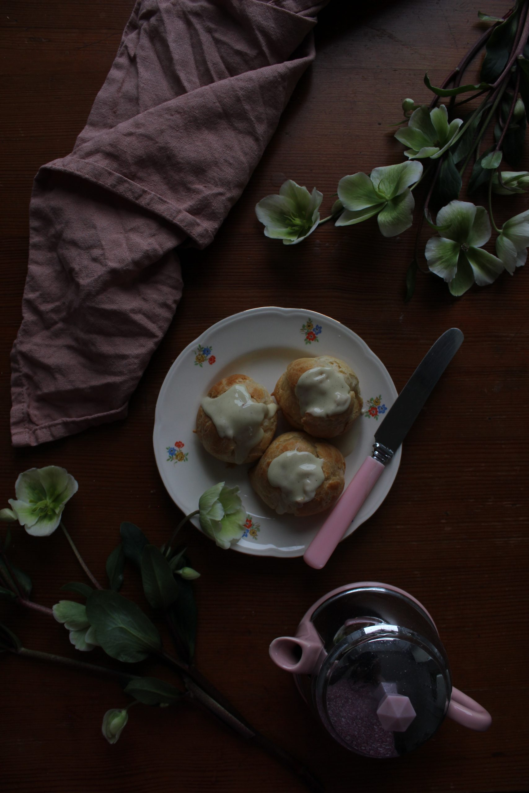Lemon and White Chocolate Profiteroles