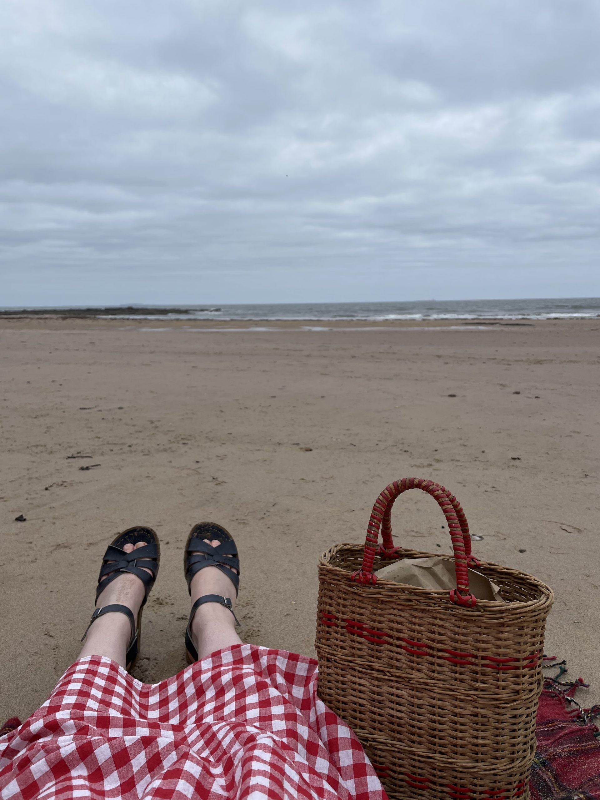 Vintage Basket at the Beach