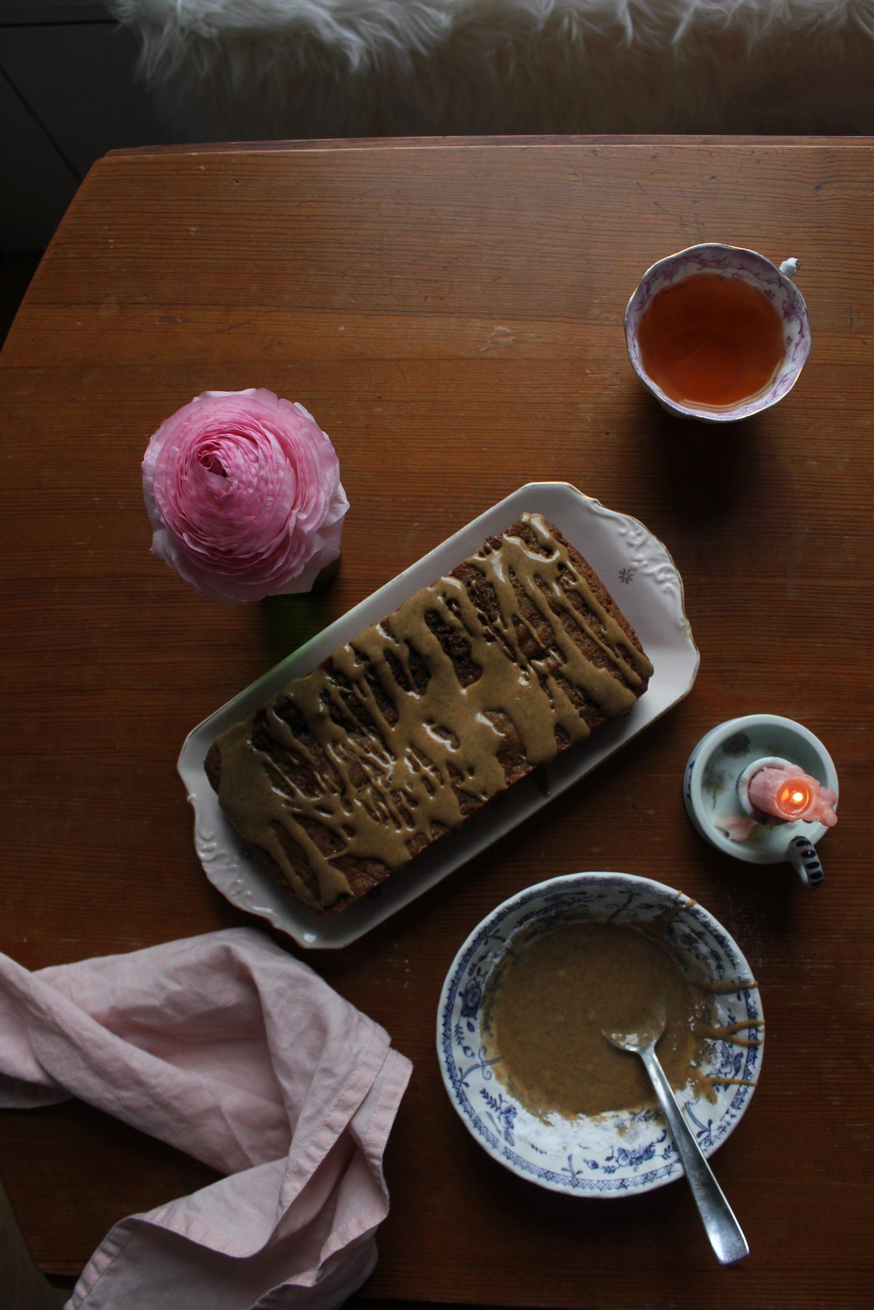 Coffee and cardamom cake