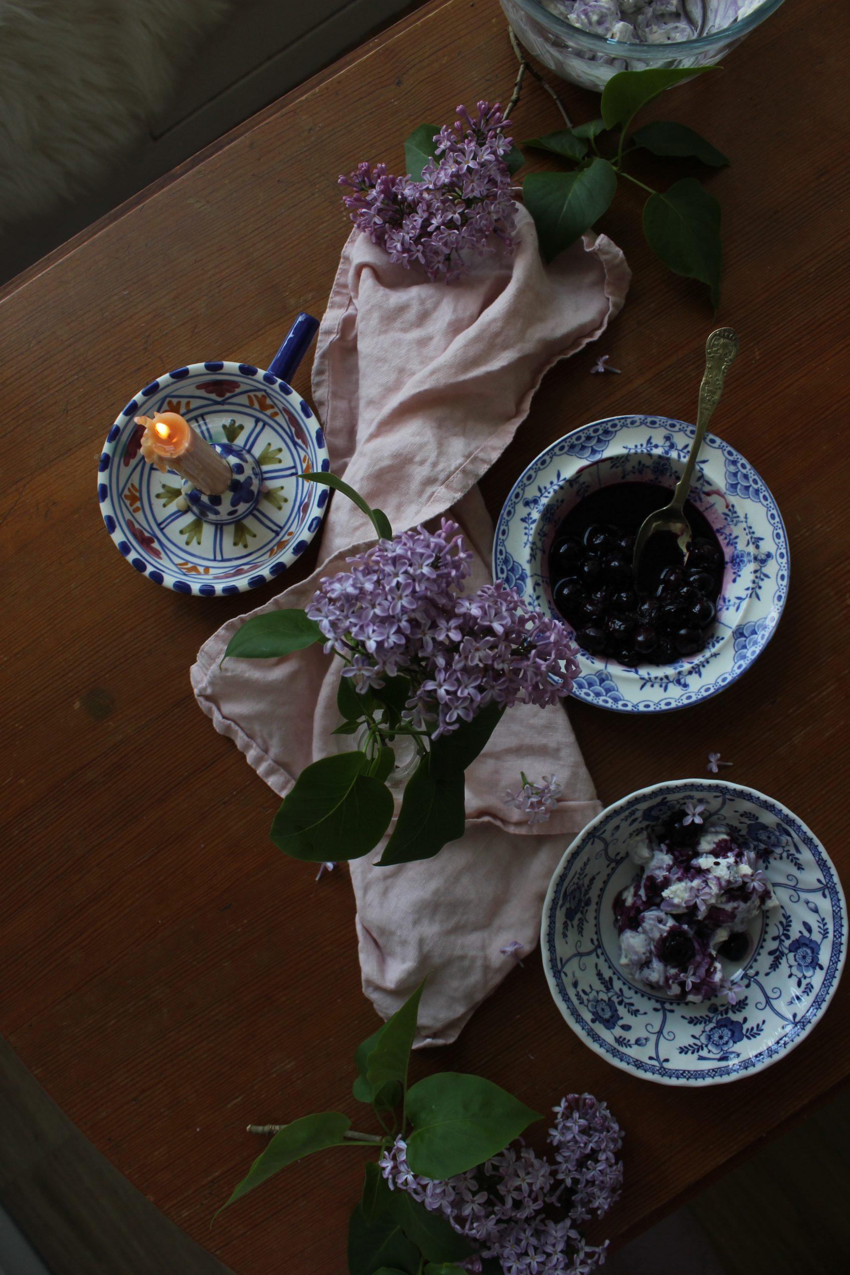 Blueberry, honey and lavender Eton Mess