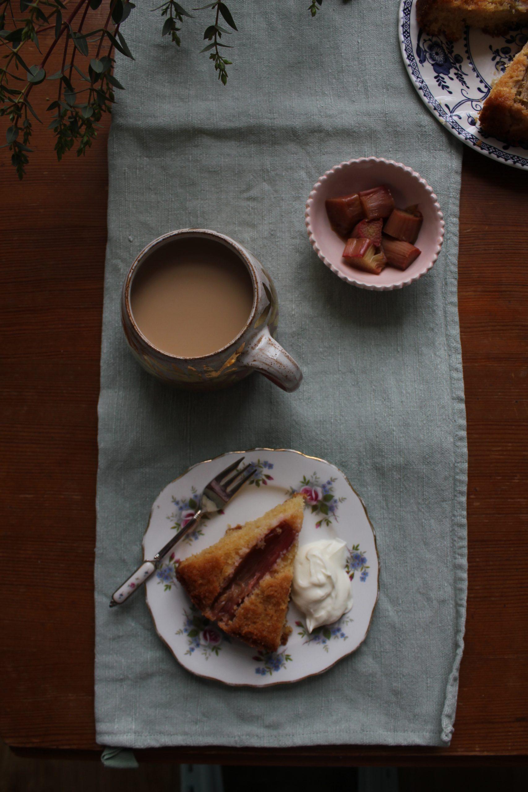 Rhubarb & Elderflower Cake