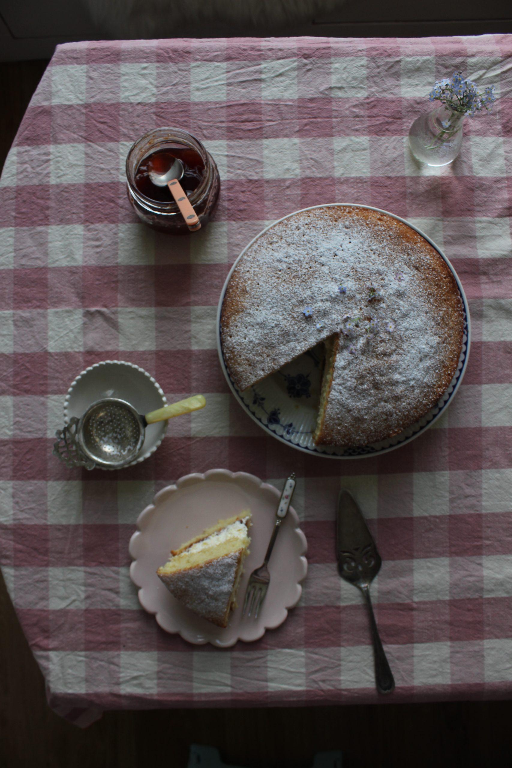 Strawberry and Elderflower Victoria sponge