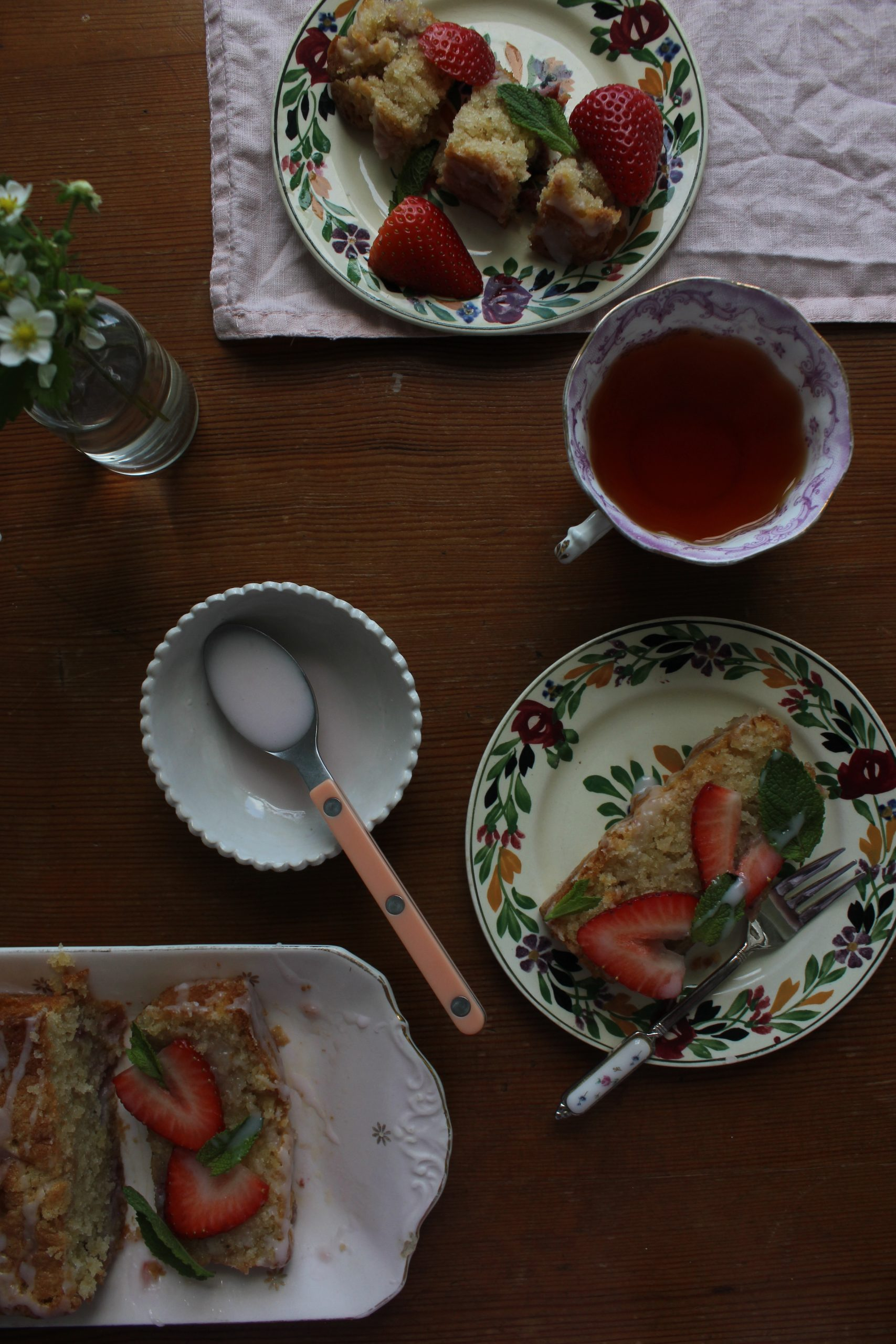 Strawberry and Mint Loaf Cake