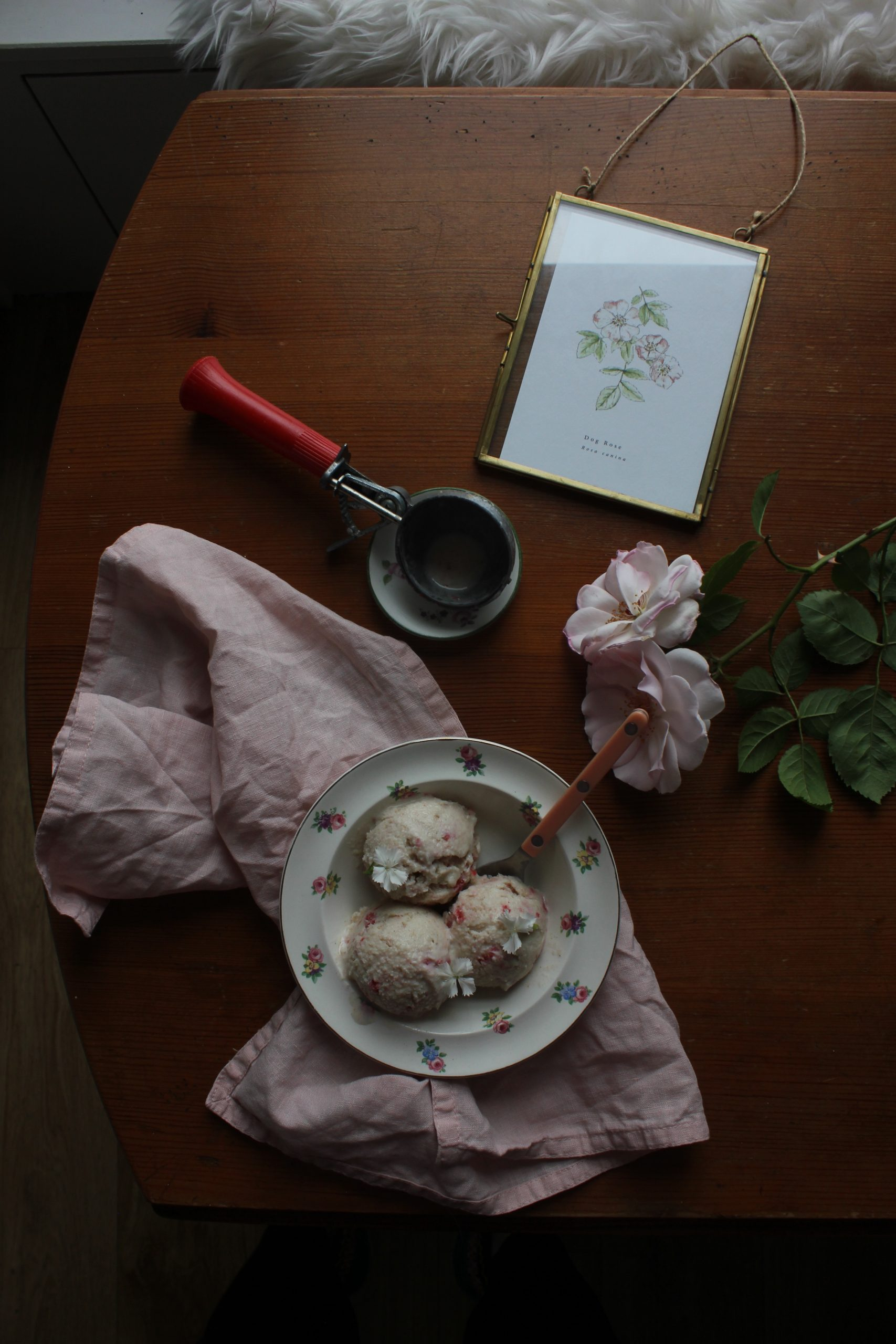 Strawberry and Cardamom Frozen Yoghurt