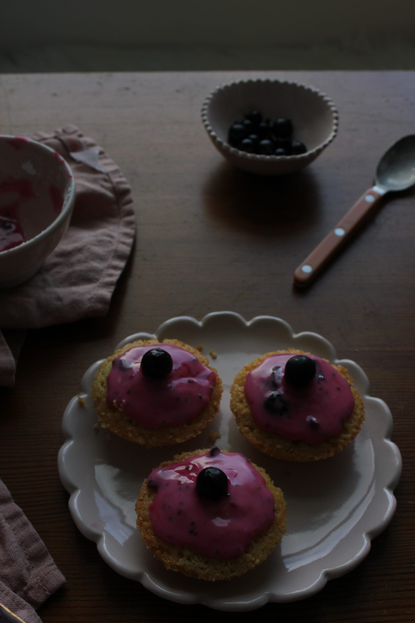 Blackcurrant and Almond Cakes