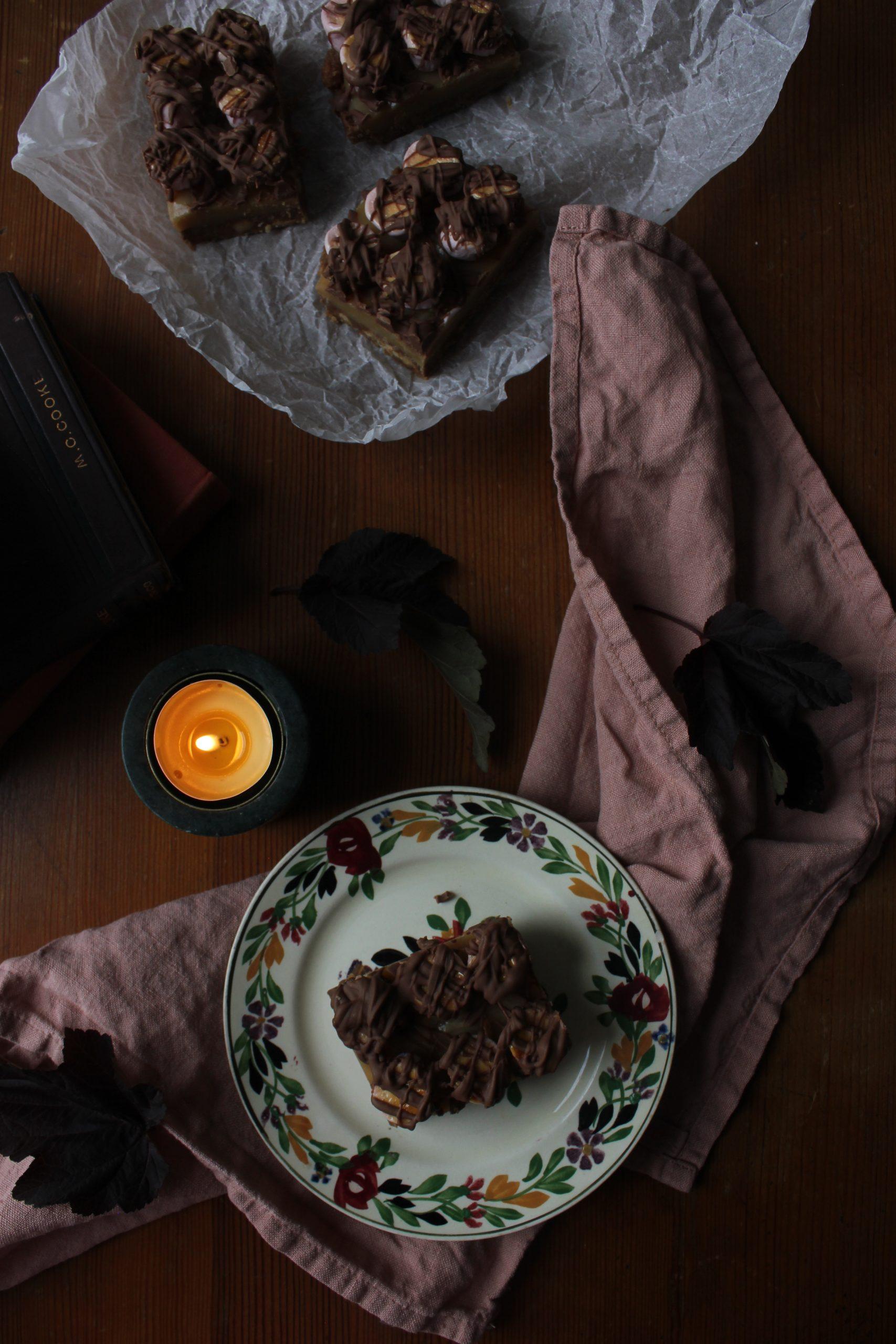 S'mores Caramel Shortbread