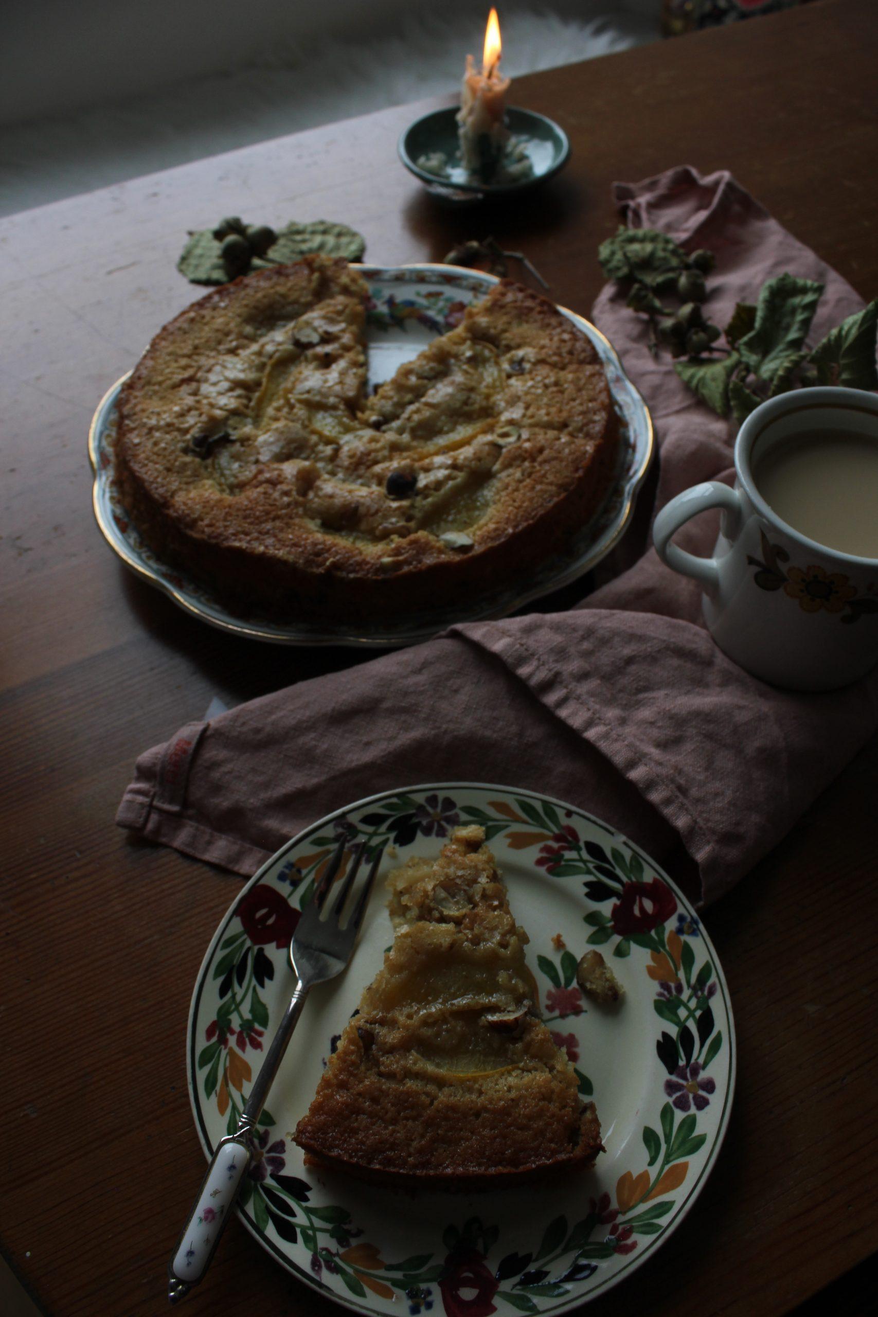 Plum, Hazelnut and Chocolate Cake